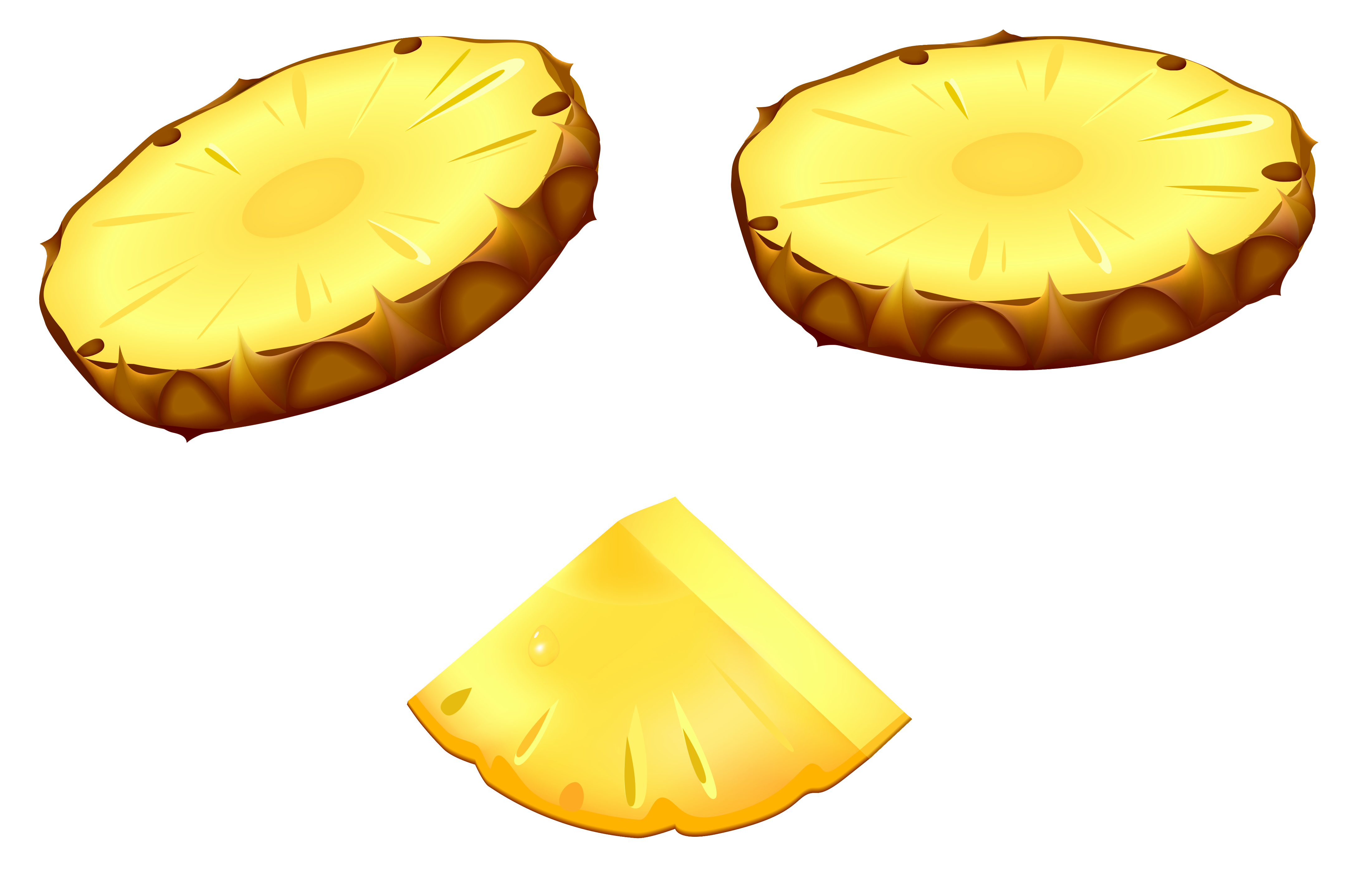 Pineapple Slices PNG Vector Clipart Image   Gallery Yopriceville ...