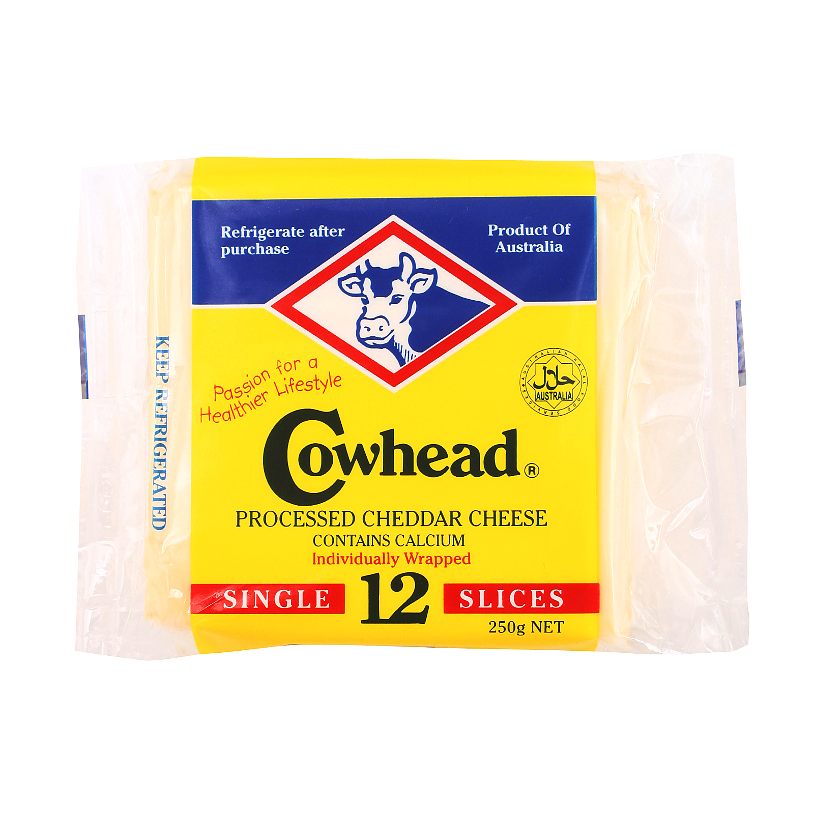 Cowhead Slice Cheddar Cheese 250g - from RedMart