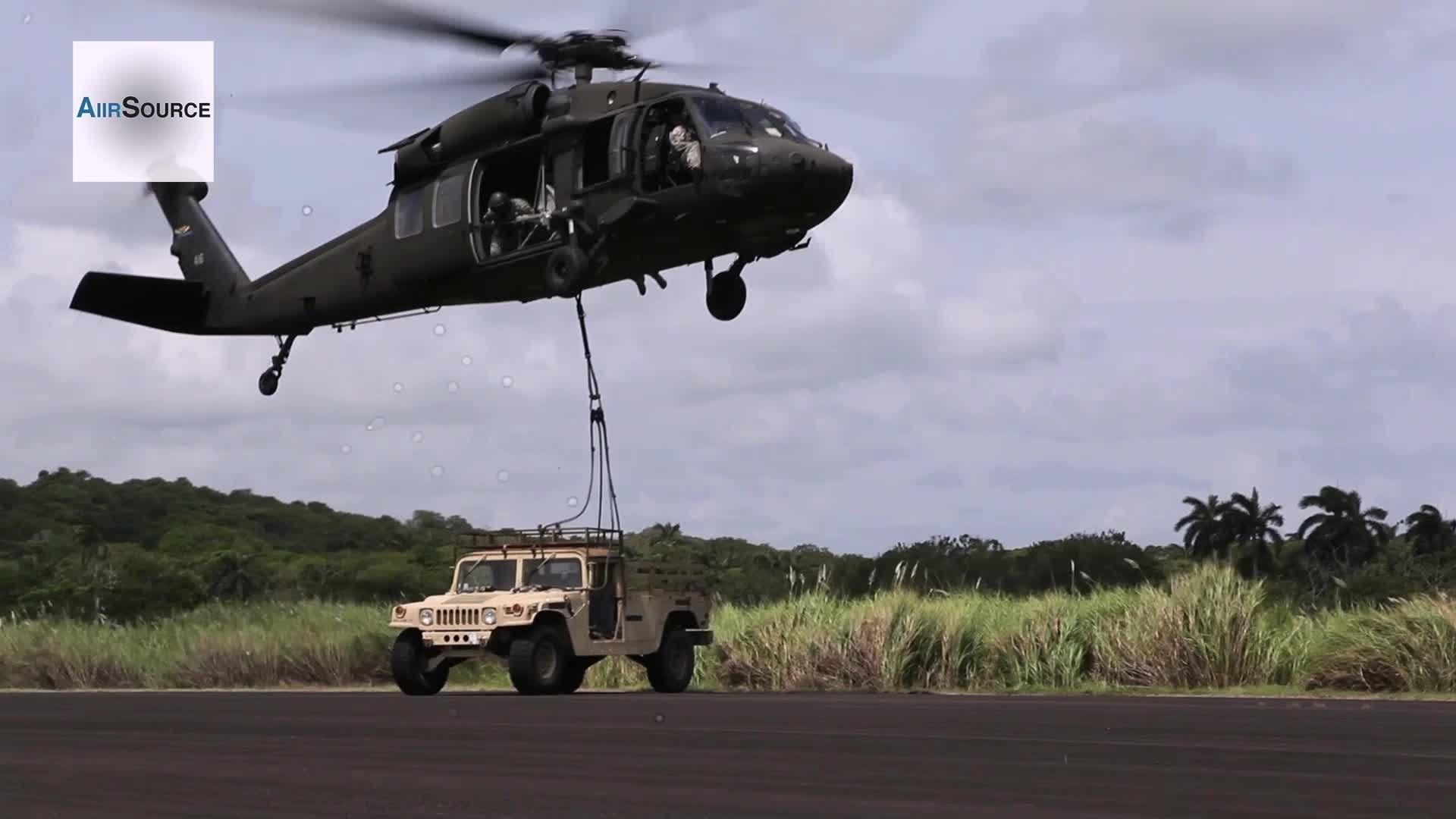 U.S. Army Air Assault Sling Load Training - UH-60L Blackhawk - YouTube