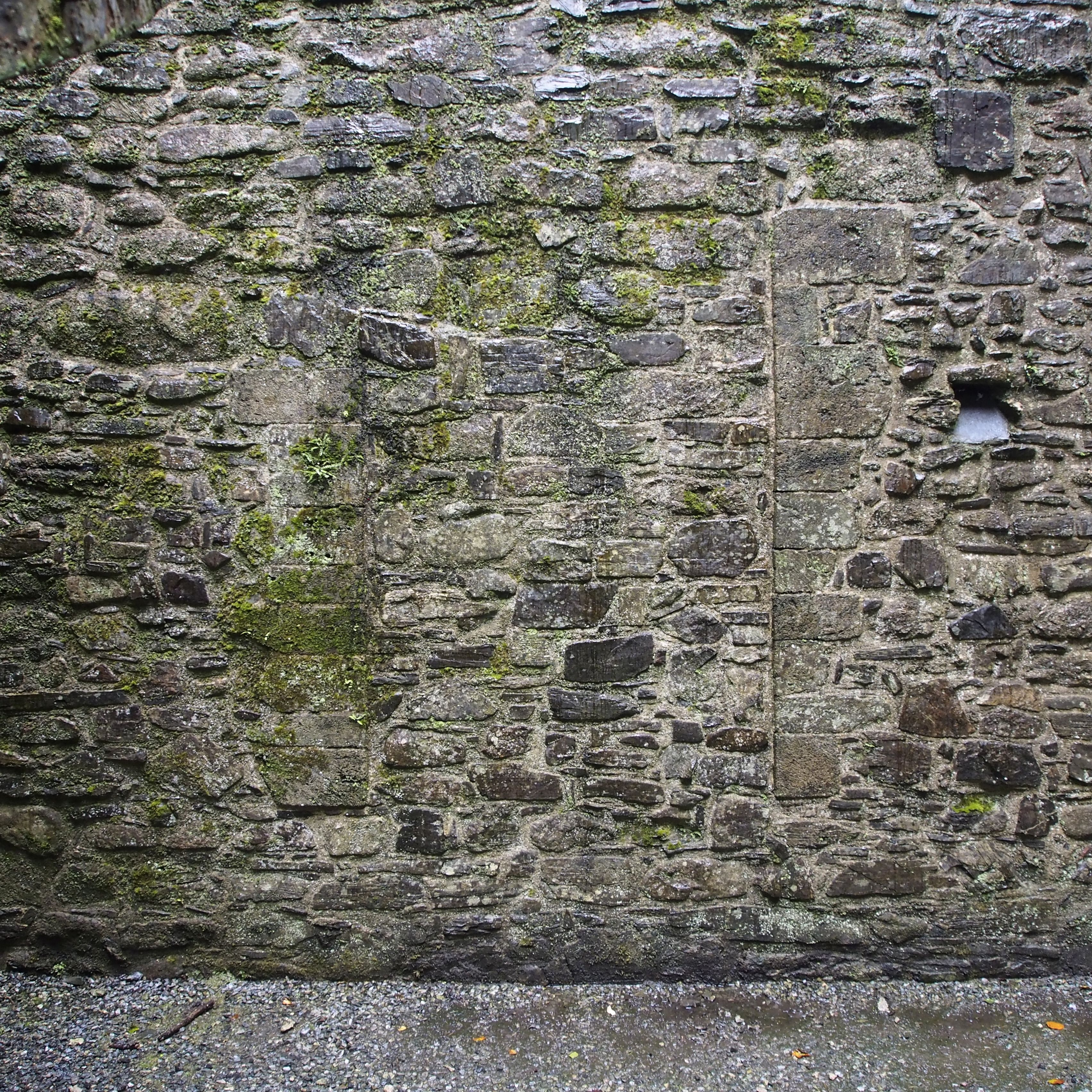Walled up arrow slit on ground floor, south wall ...
