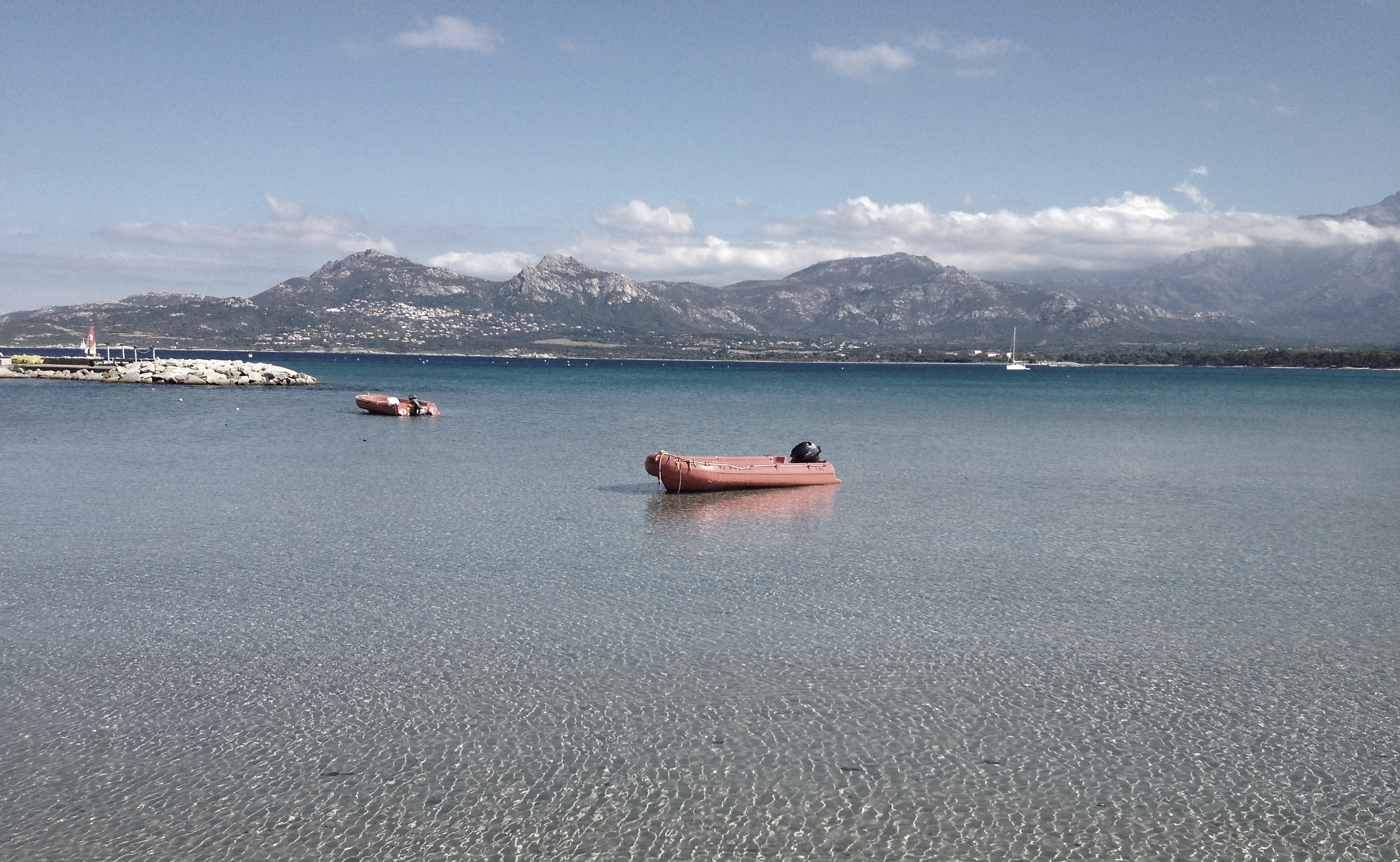 Small Boats at Sea, Boat, Landscape, Mountains, Rocks, HQ Photo