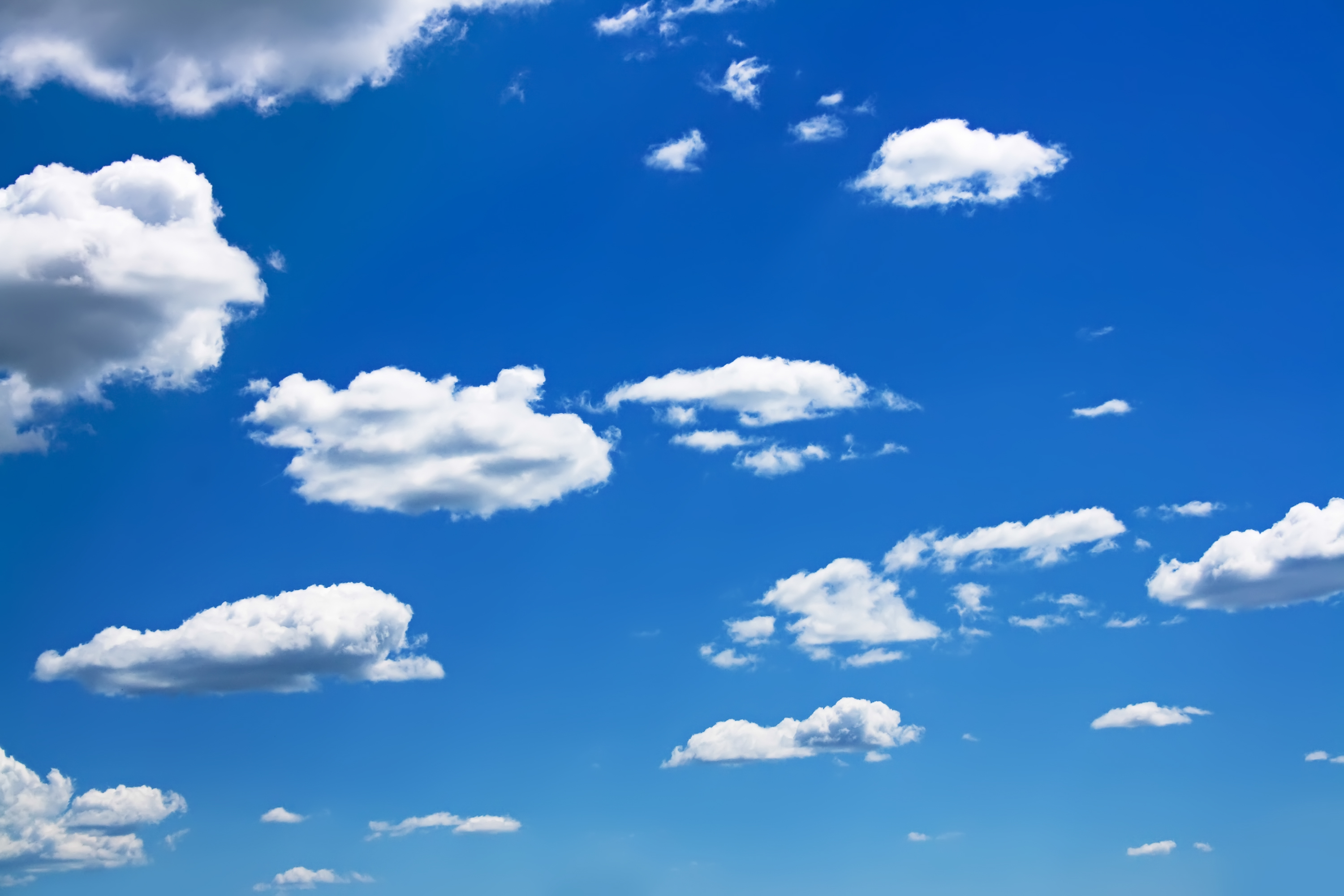 Small Clouds on Blue Sky, Blue, Clear, Clouds, Cloudy, HQ Photo