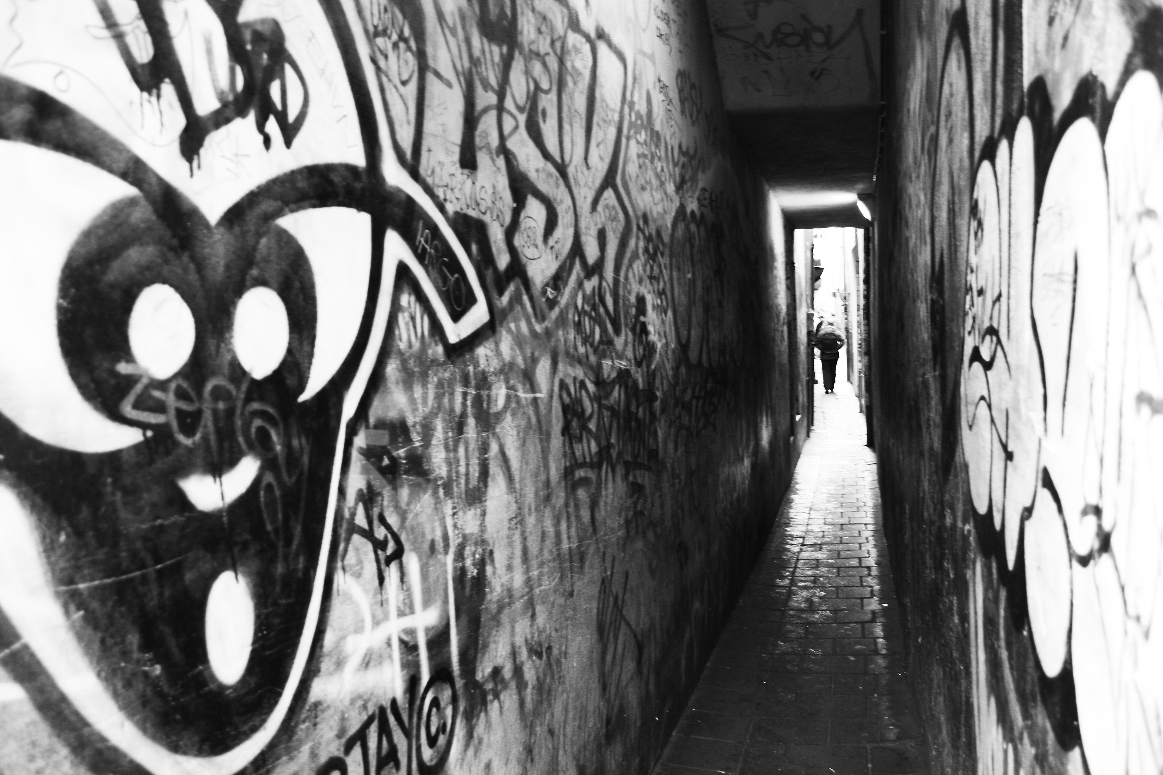 Small graffiti passage way photo