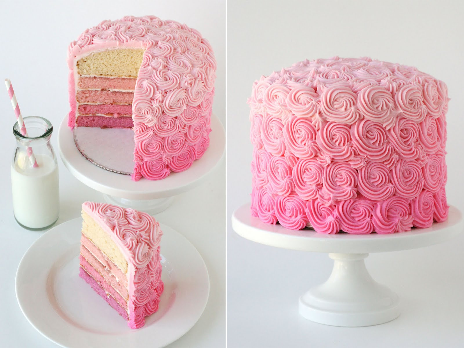 Small pink cakes photo