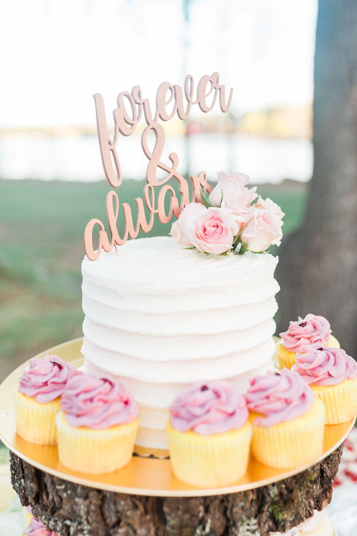 Small pink desserts photo