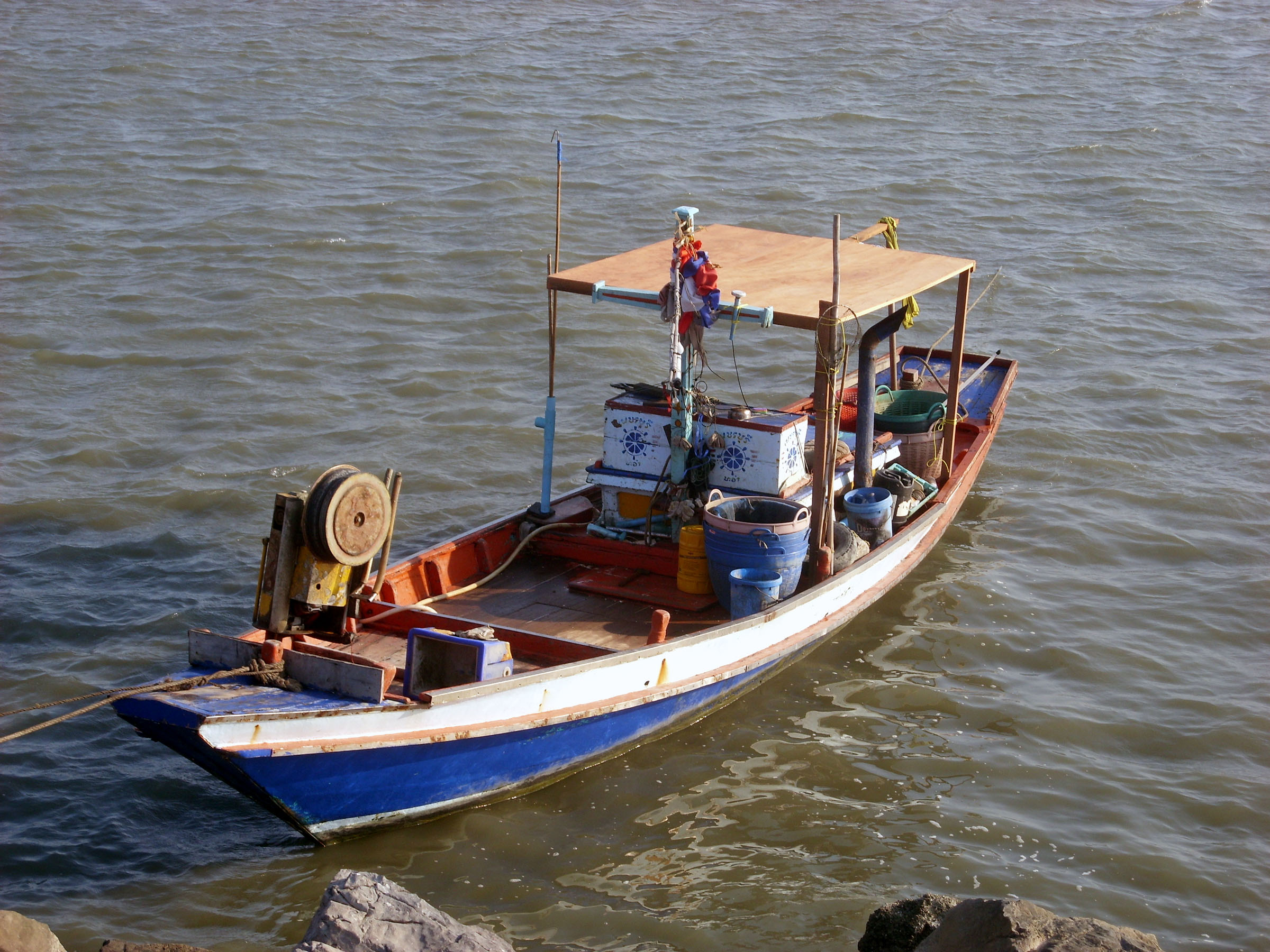 Small thai fishing boat photo