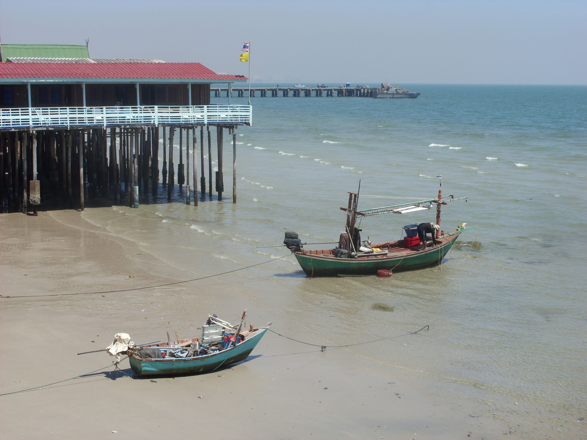 Small thai fishing boats photo
