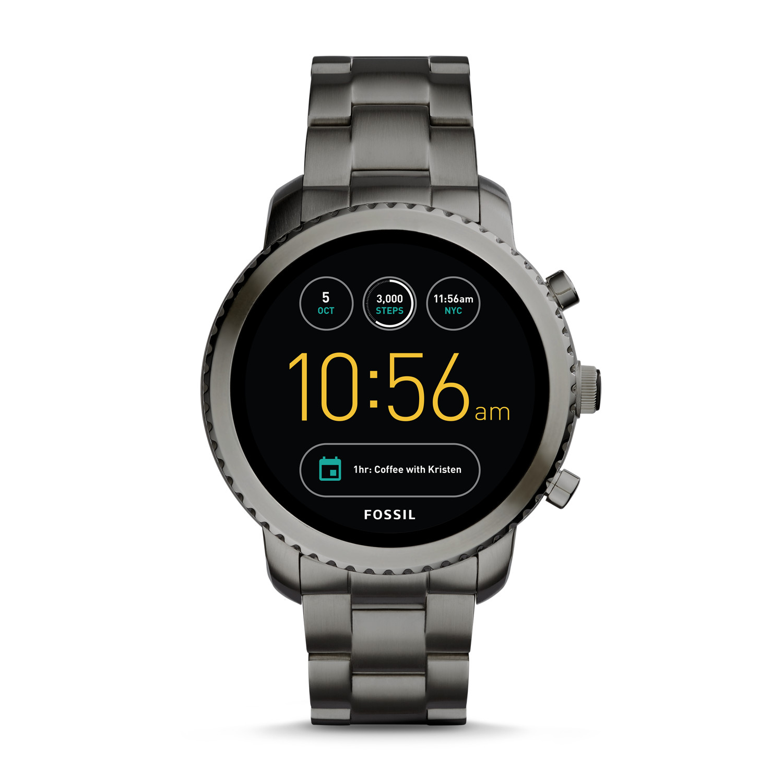 Gen 3 Smartwatch - Q Explorist Smoke Stainless Steel - Fossil