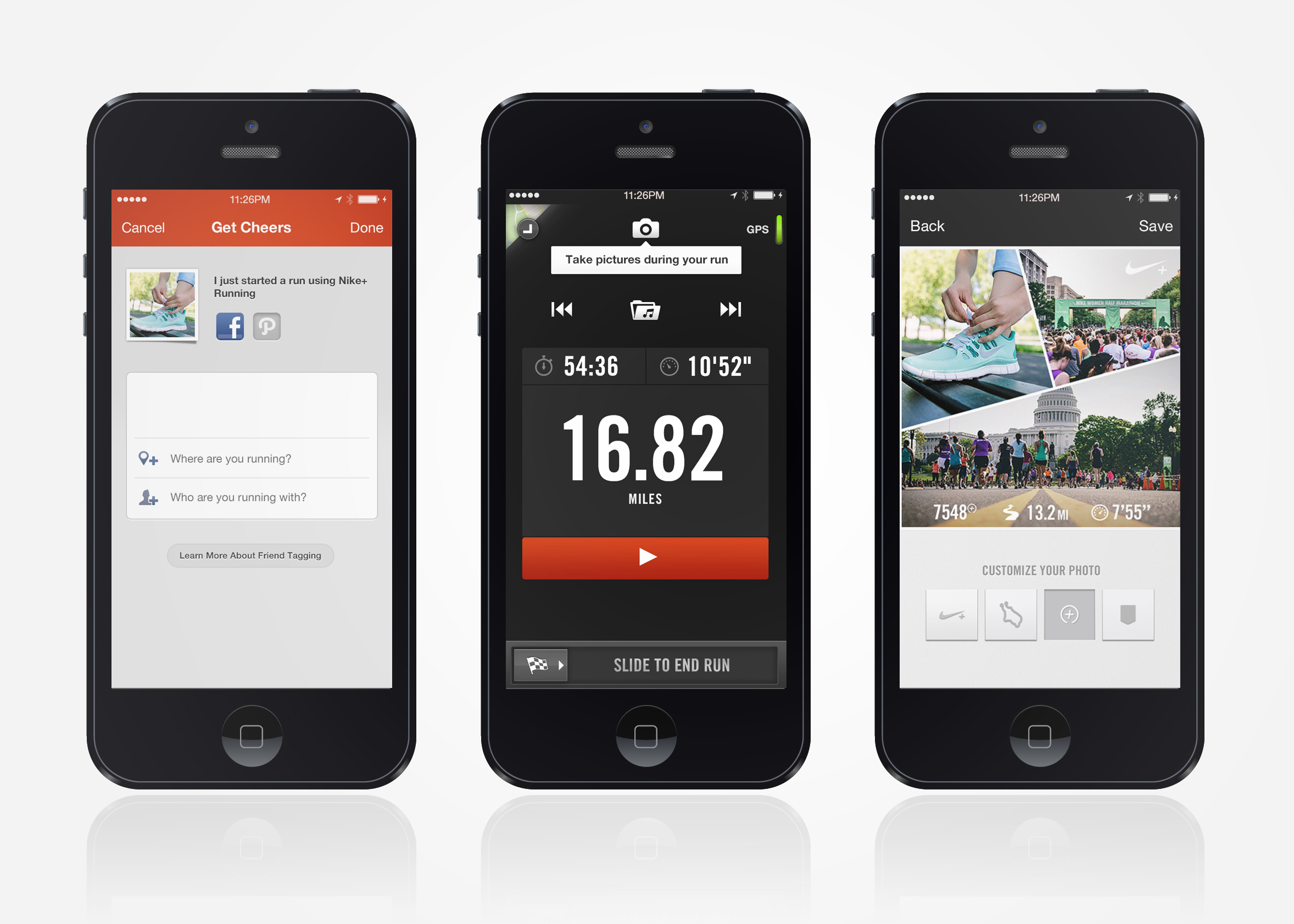 Smartphone running apps photo
