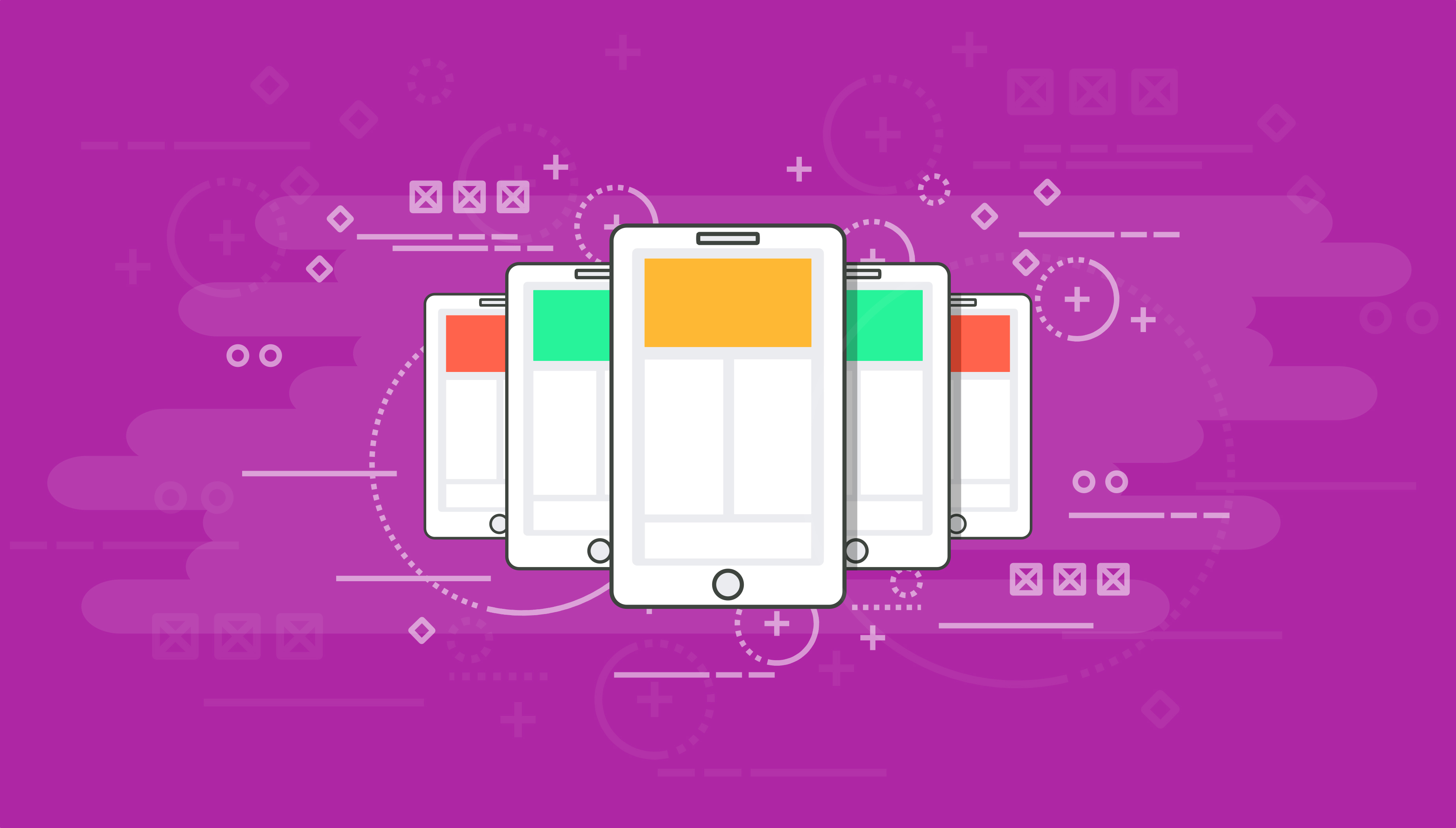Smartphones - modern communication concept - darker version photo