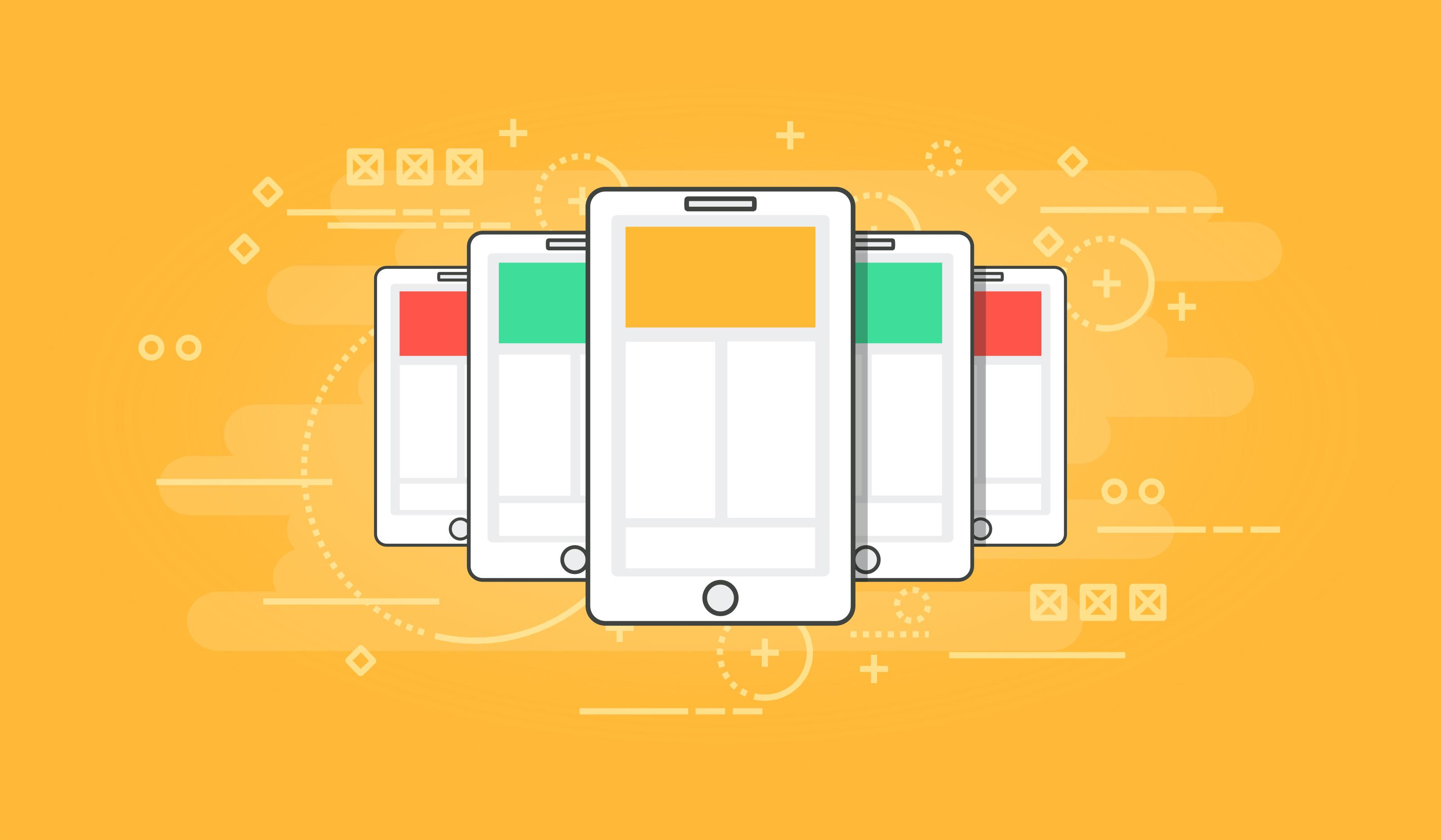 Smartphones - modern communication concept photo