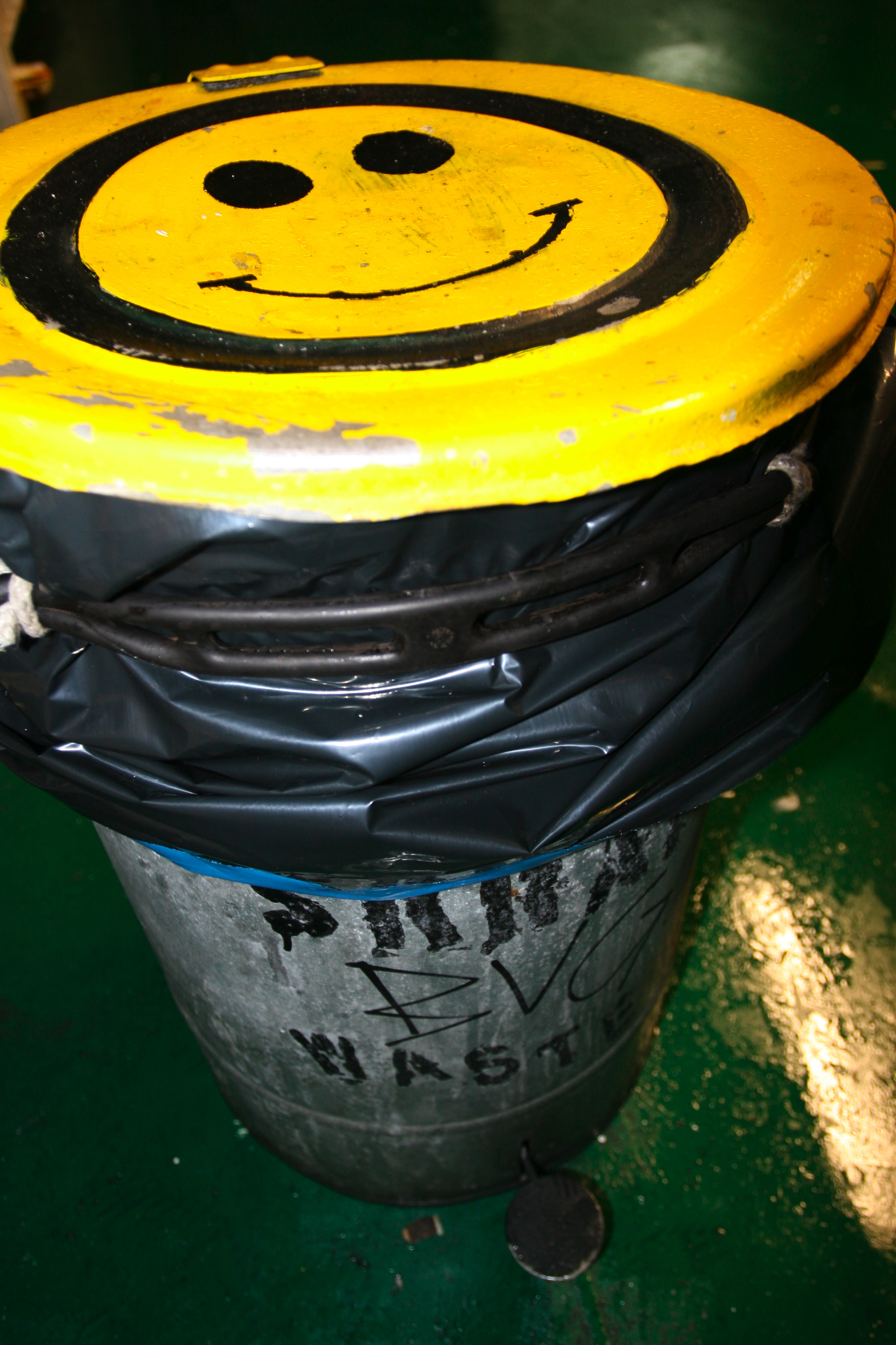 Smile, Bspo06, Container, Trashcan, Yellow, HQ Photo