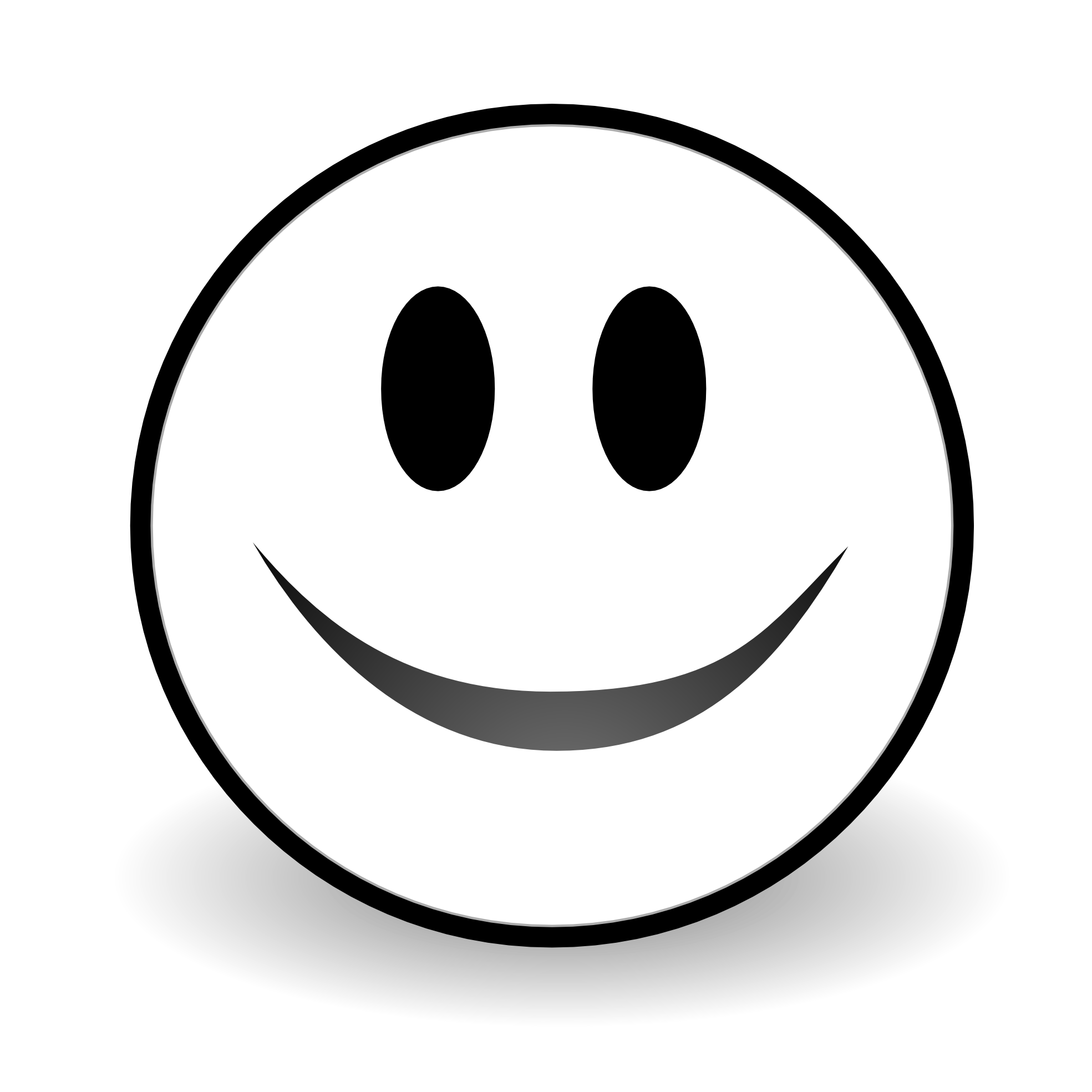 Smile Black And White Clipart