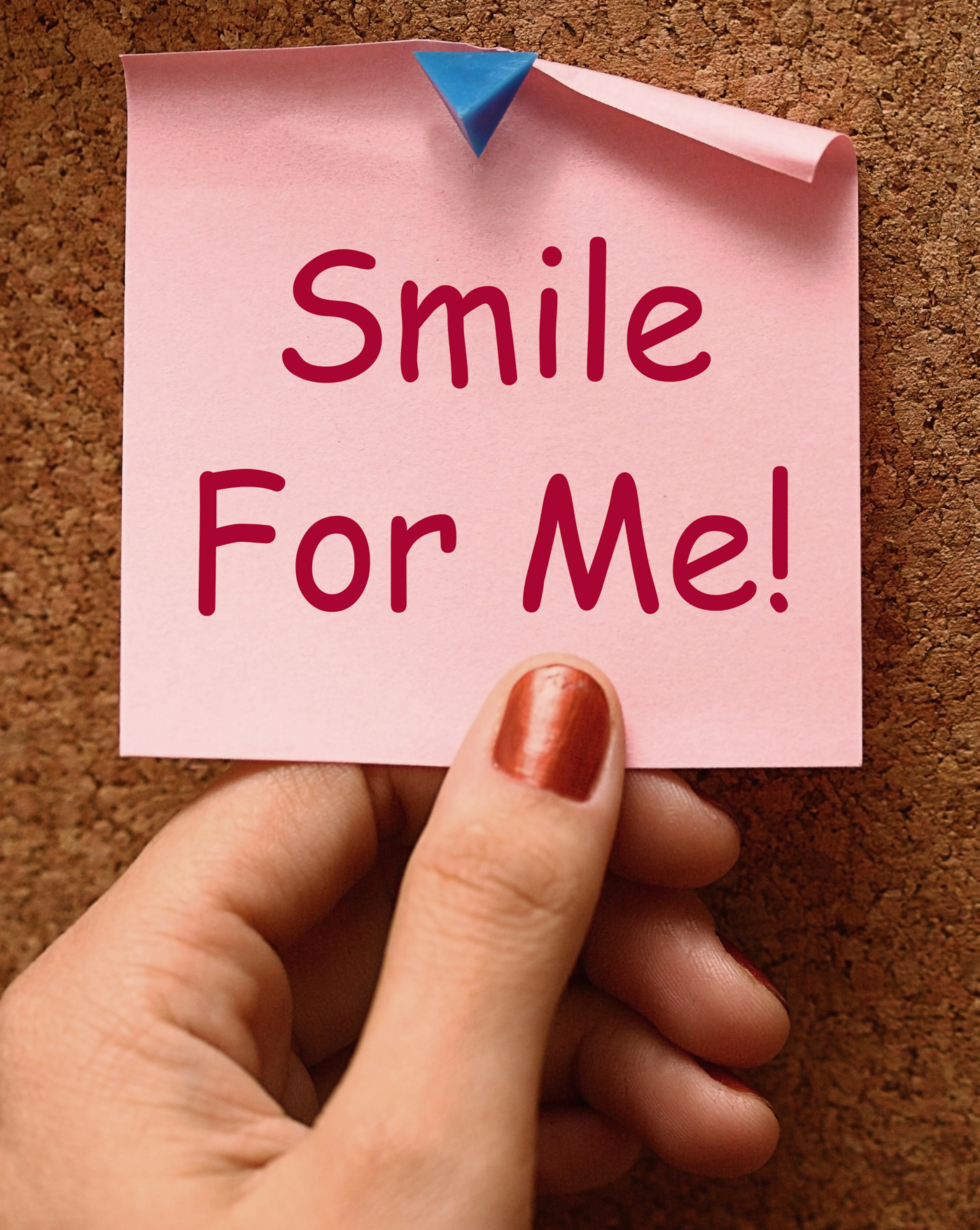 Smile For Me Note Means Be Happy Cheerful, Behappy, Cheerful, Friendly, Grin, HQ Photo