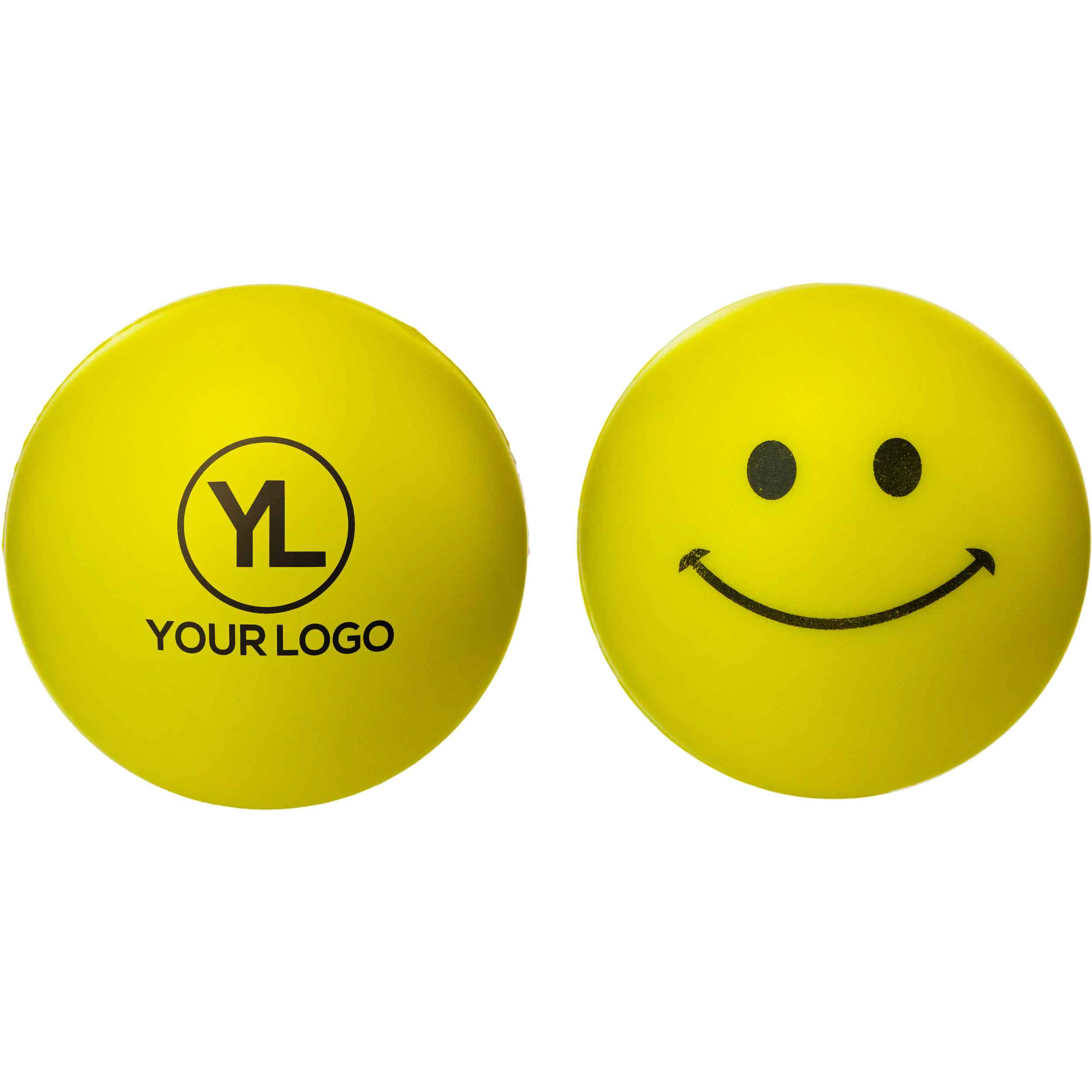 Promotional Smiley Face Stress Relievers with Custom Logo for $0.771 Ea.