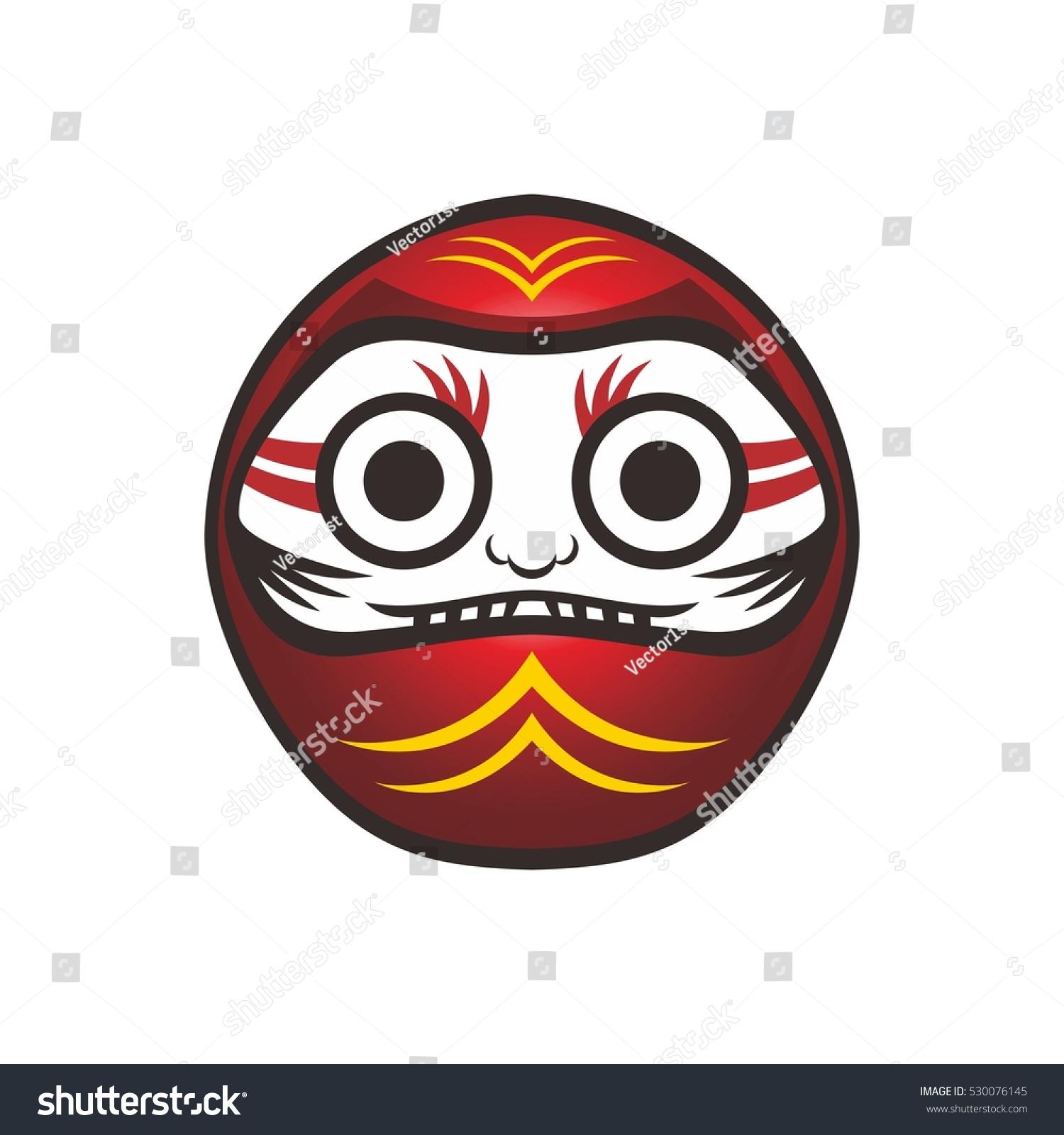 Daruma Japan Warrior Doll Character Stock Illustration 530076145 ...