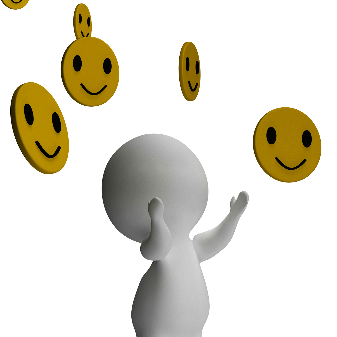 Smileys smiling and 3d character showing happiness photo
