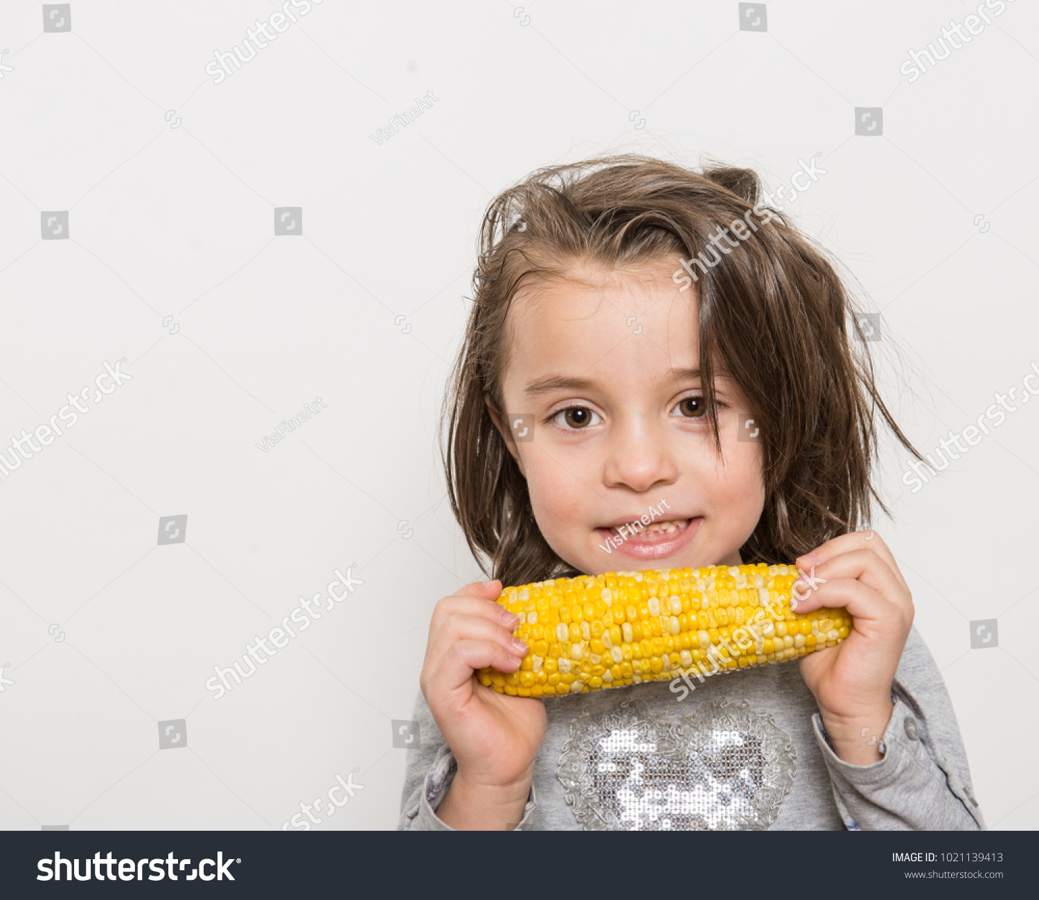 Indoor Close Portrait Smiling Young Girl Stock Photo (Royalty Free ...
