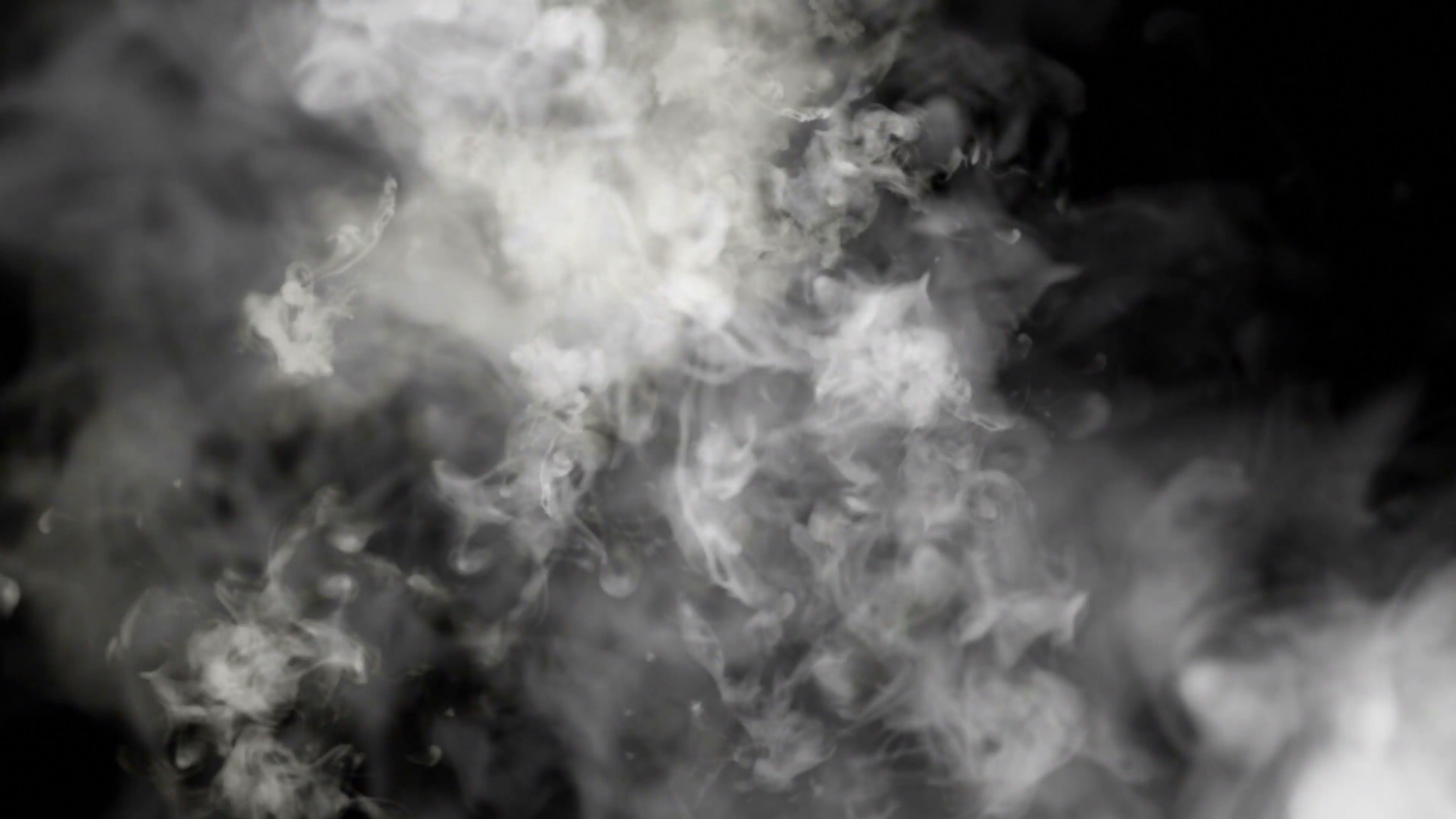 Smoke Cloudy Transition / Overlay, with Alpha Channel, Loop, 4k ...
