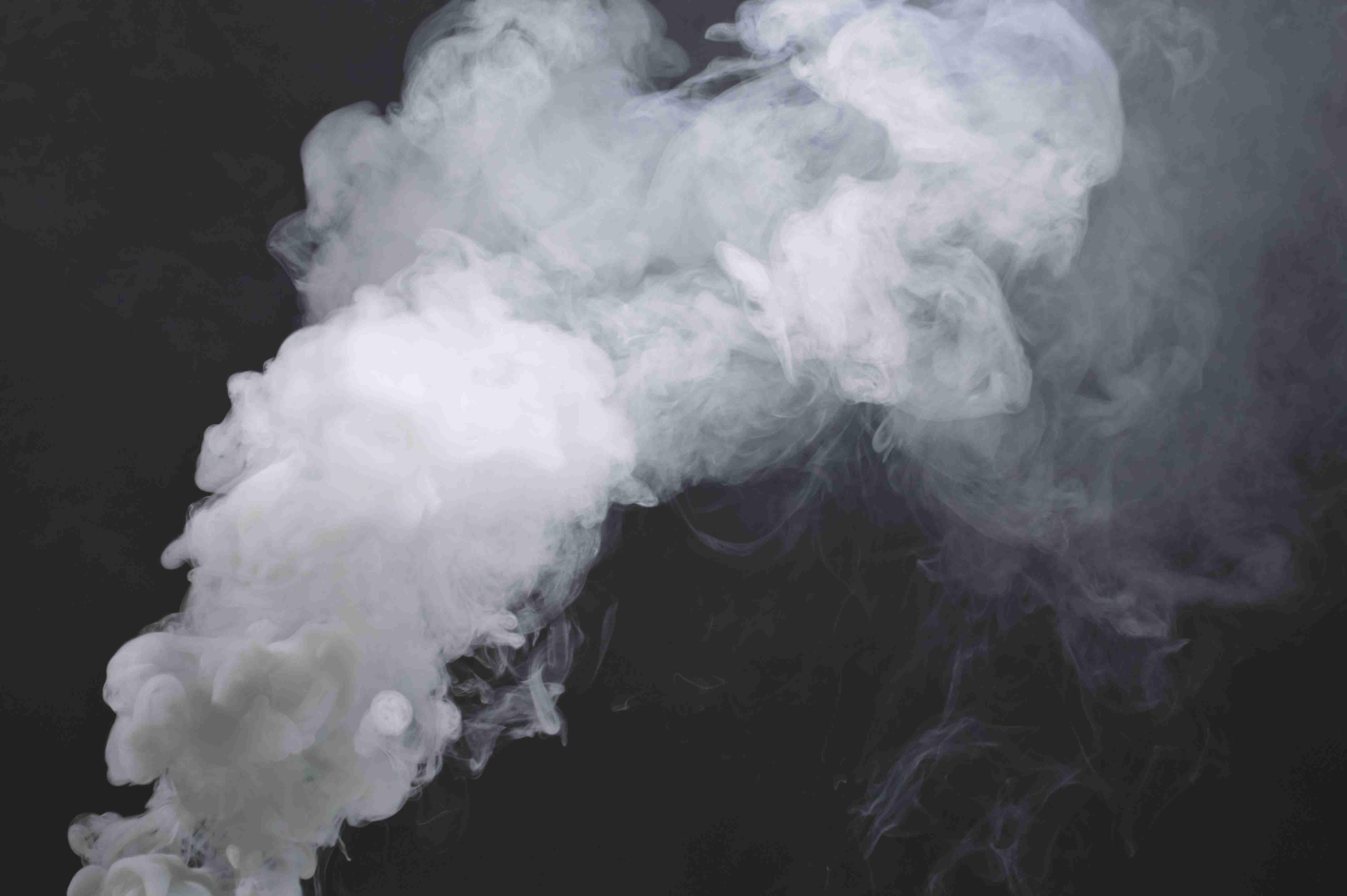 Smoke on white photo