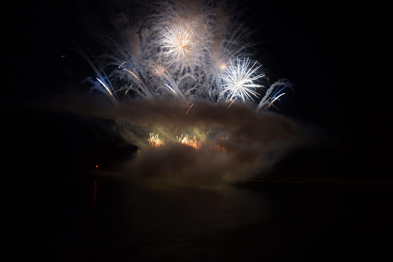 Smoke and Fireworks, Celebration, Fireworks, Lights, Night, HQ Photo