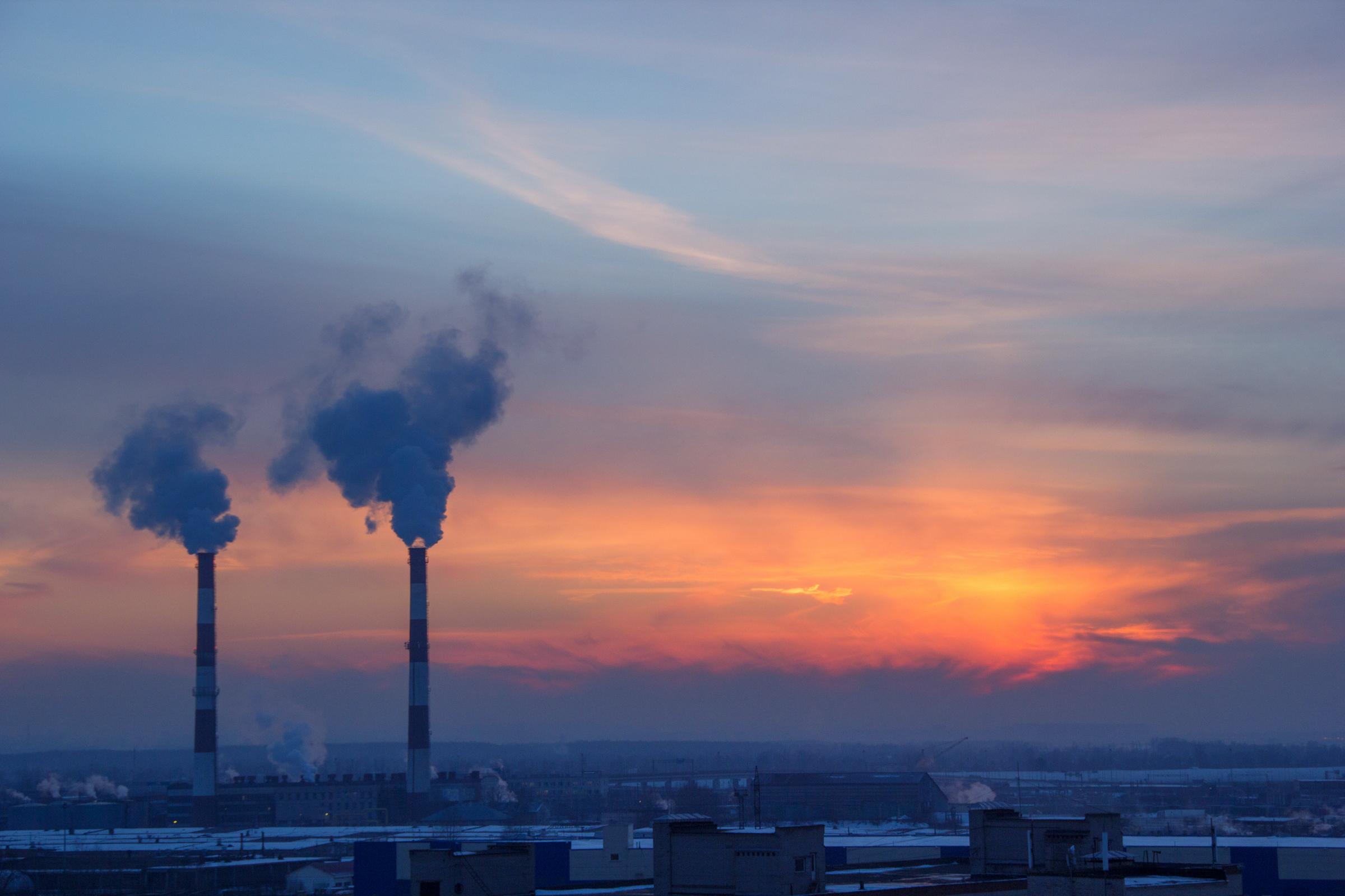 smoke and sunset