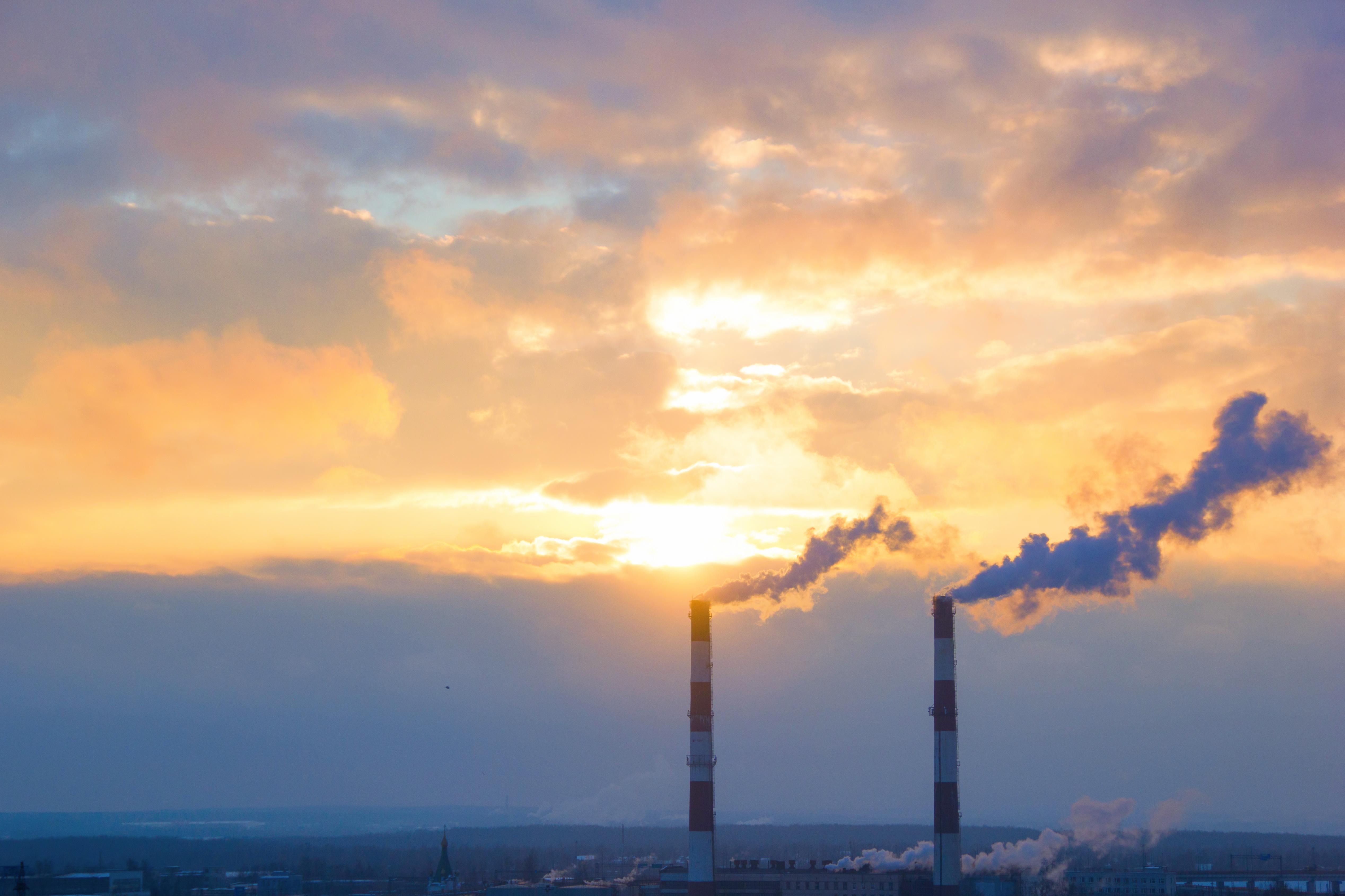 Smoke and sunset, Air, Sky, Tube, Toxic, HQ Photo