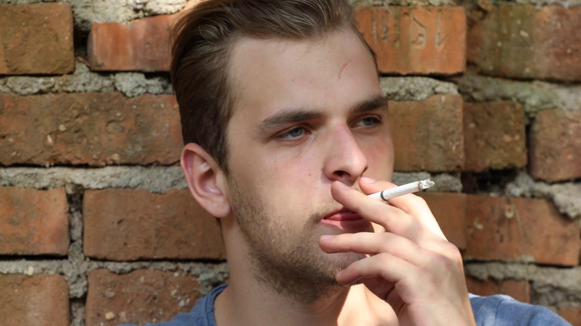 Smoking person photo