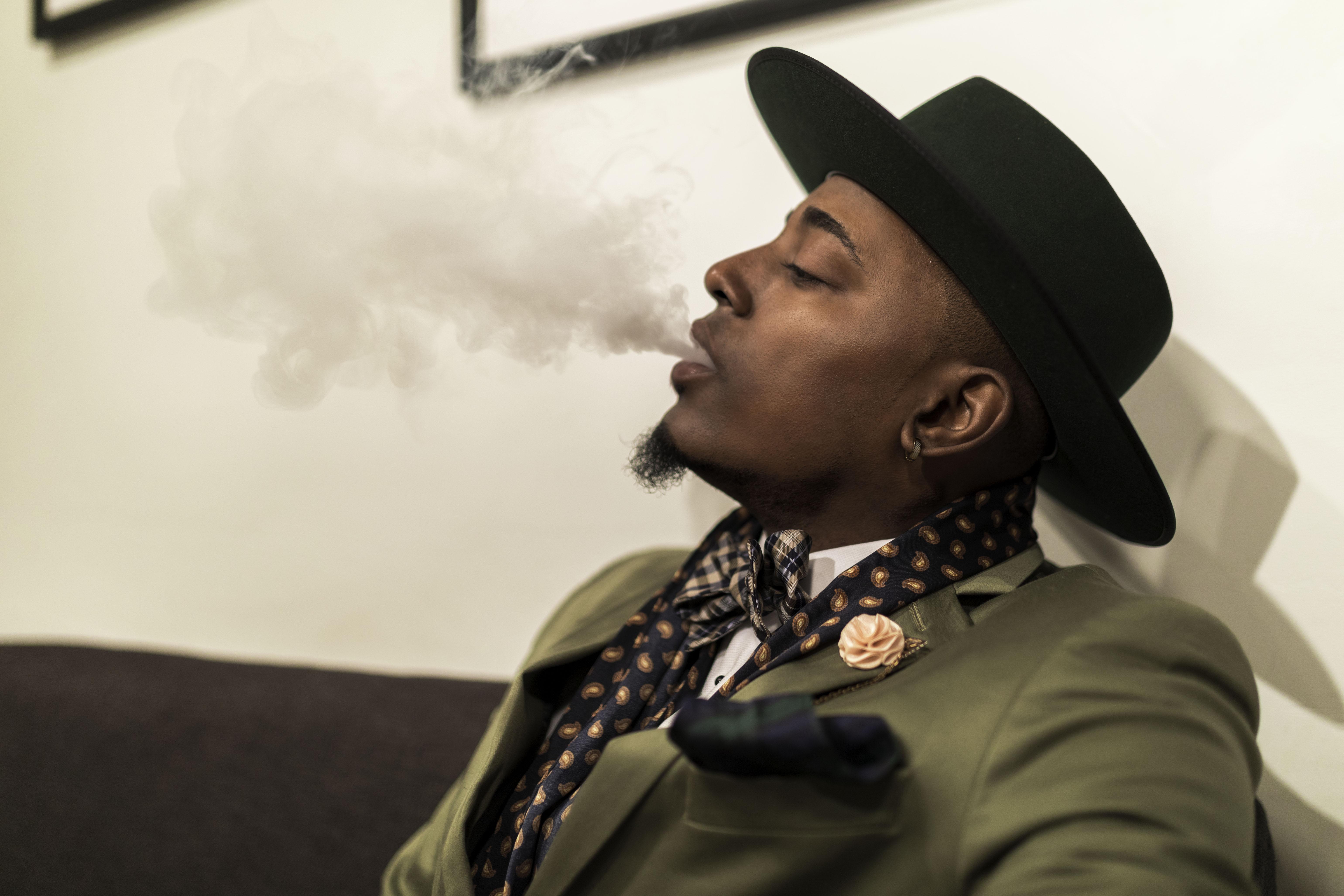 smoking person, smoking person