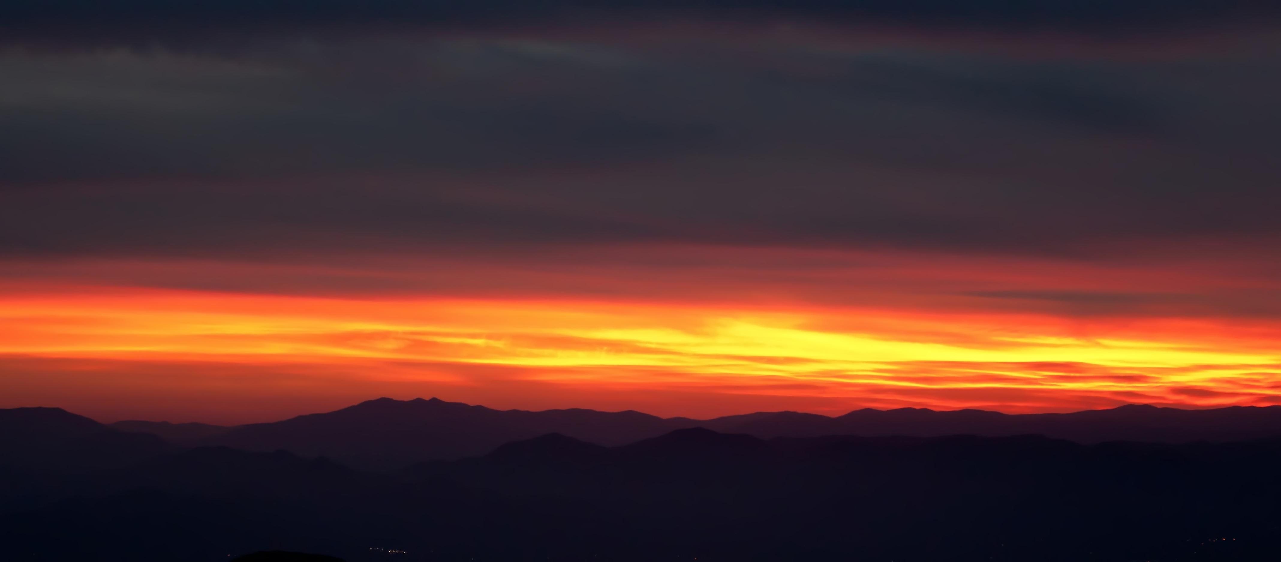 Smoky Mountain Panorama, Blue, Smoky, Peaceful, Ridge, HQ Photo