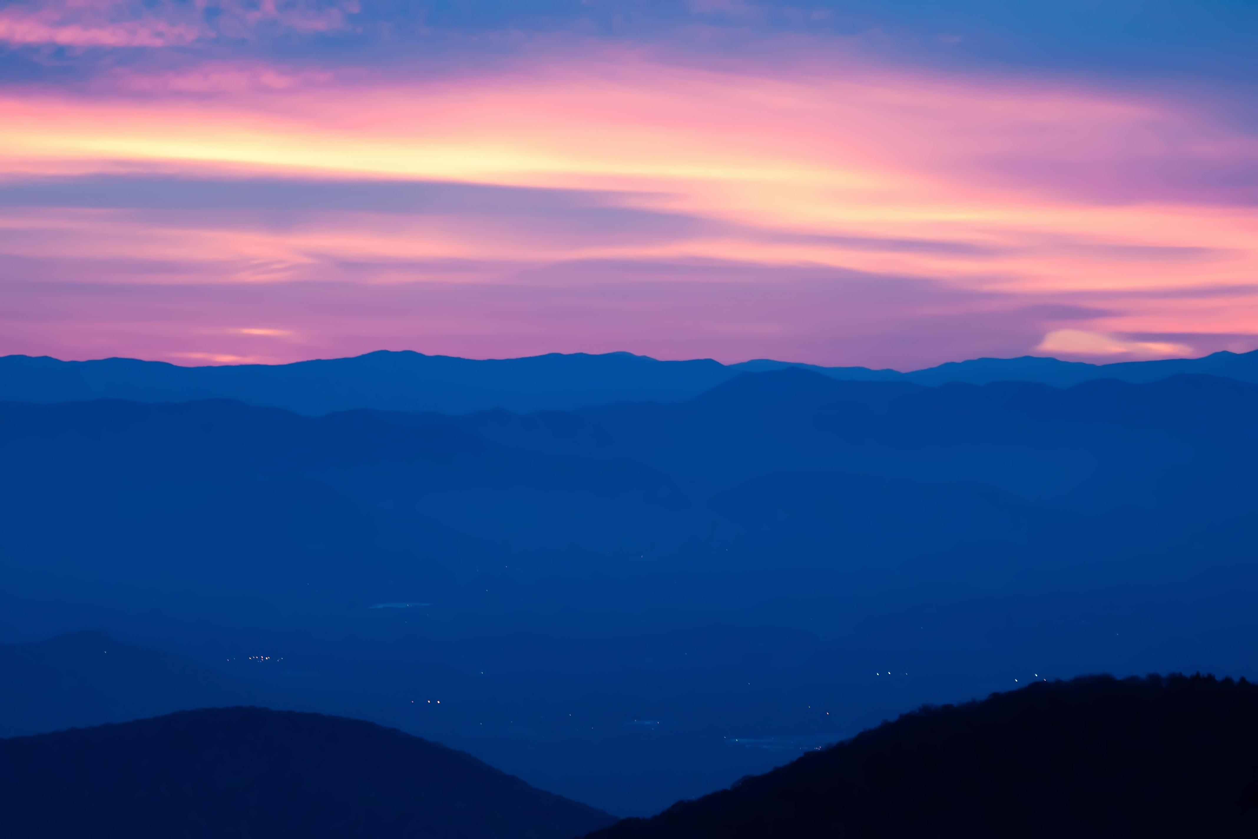 Smoky mountain panorama photo
