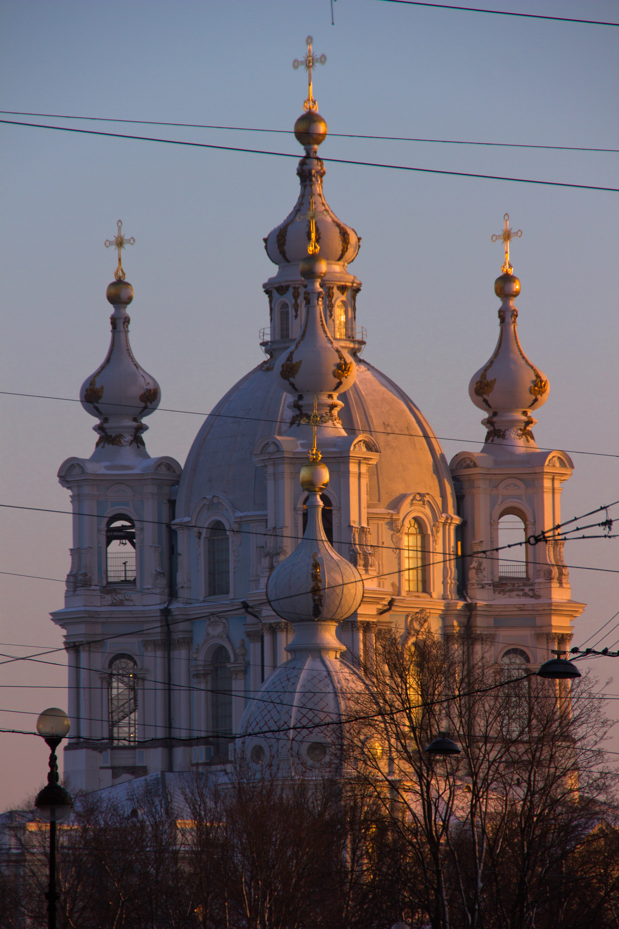 Smolny Cathedral, 2015, Outdoor, Tourism, Sunset, HQ Photo