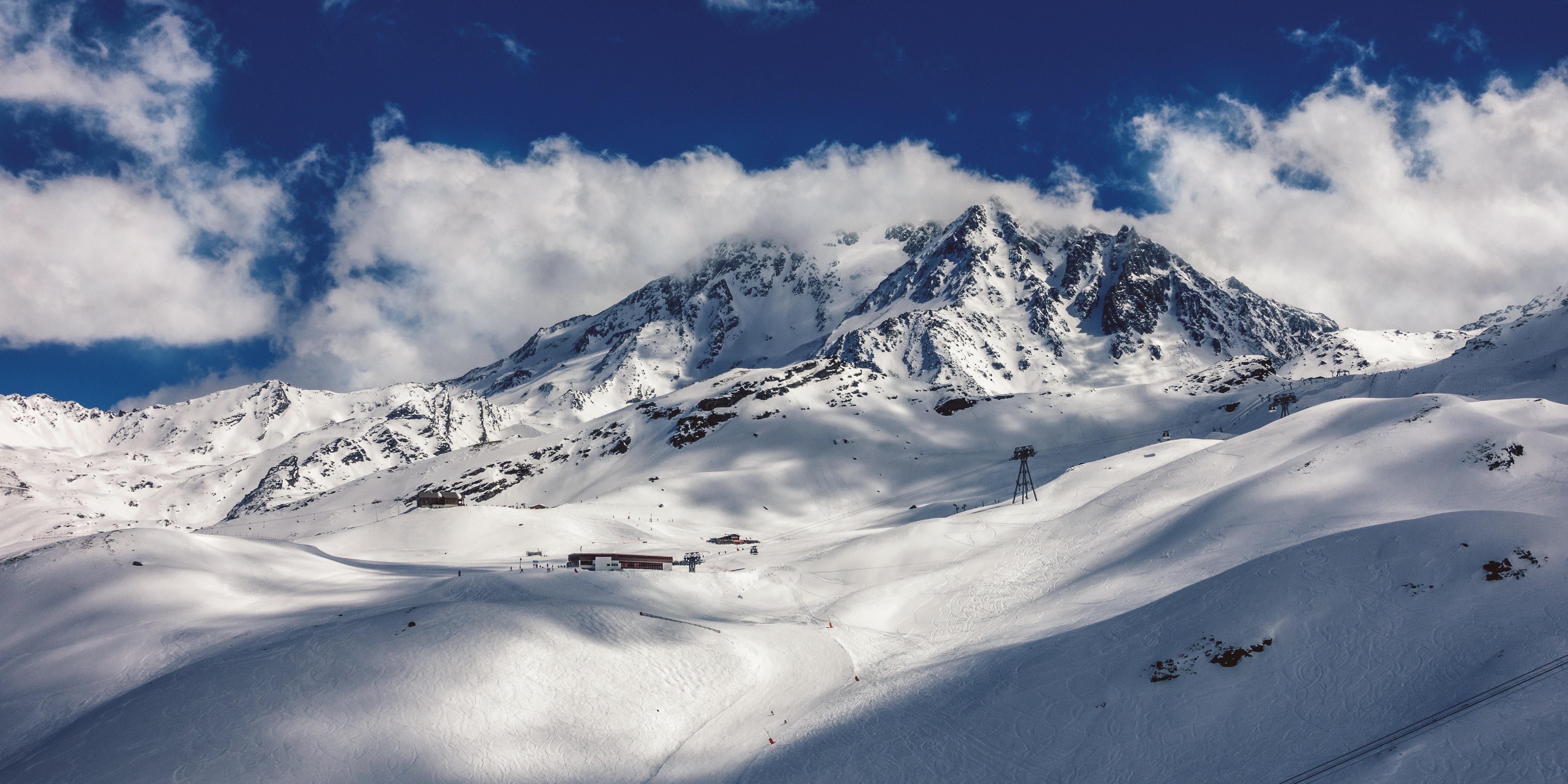 Snow Cap Mountain, Clouds, Cold, Ice, Landscape, HQ Photo