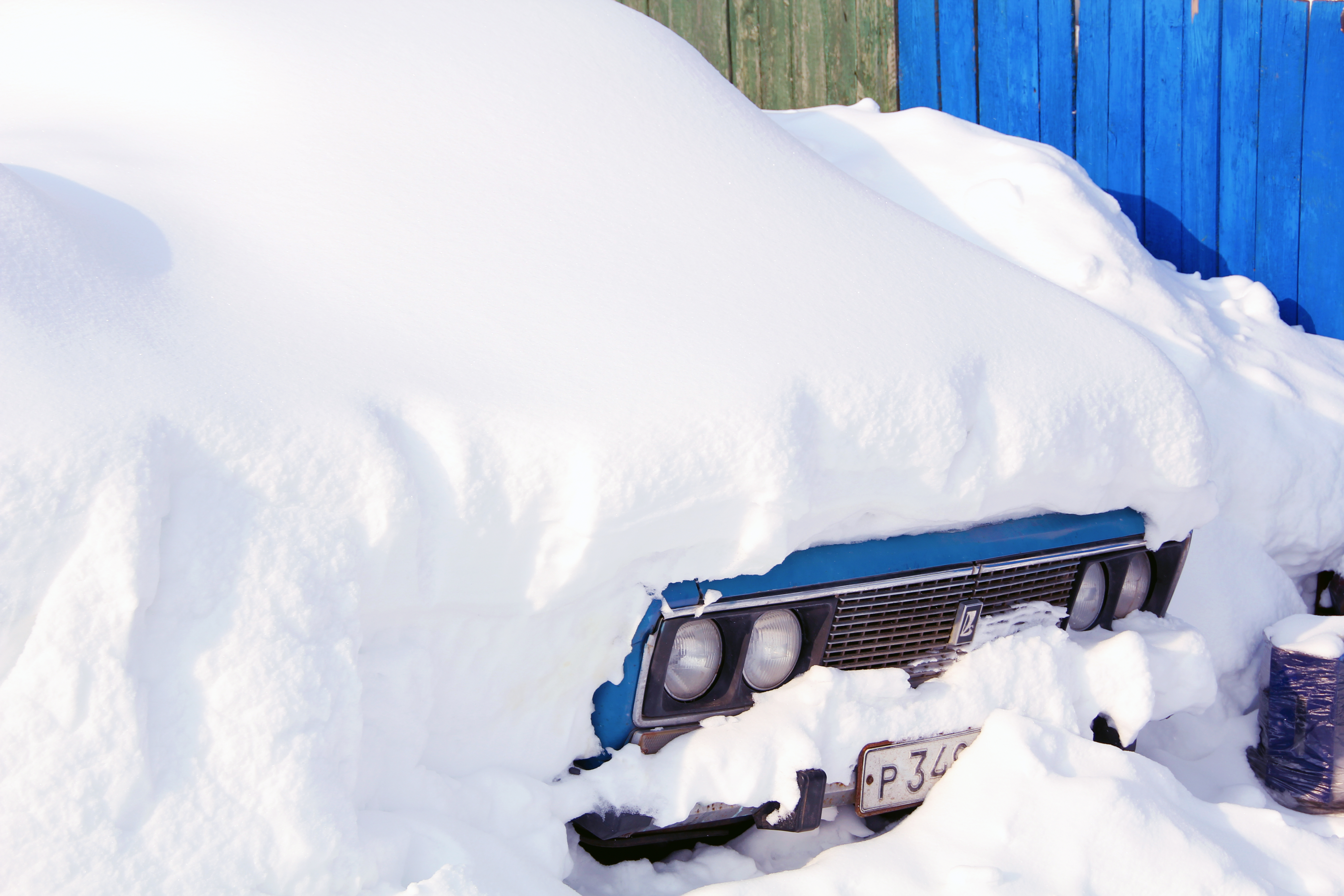Snow-Covered Car, Car, Snowy, White, Weather, HQ Photo