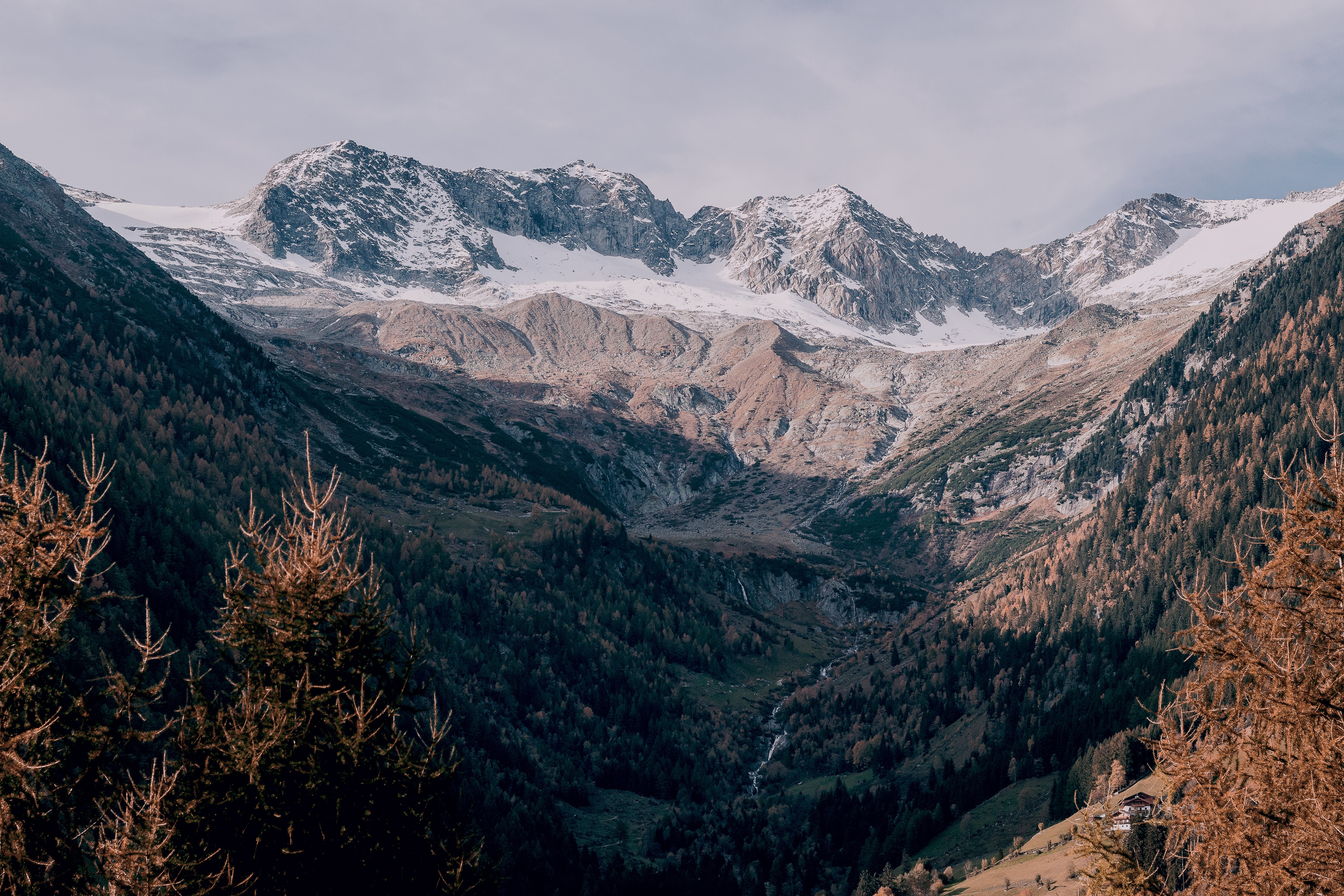 Snow-covered mountain photo