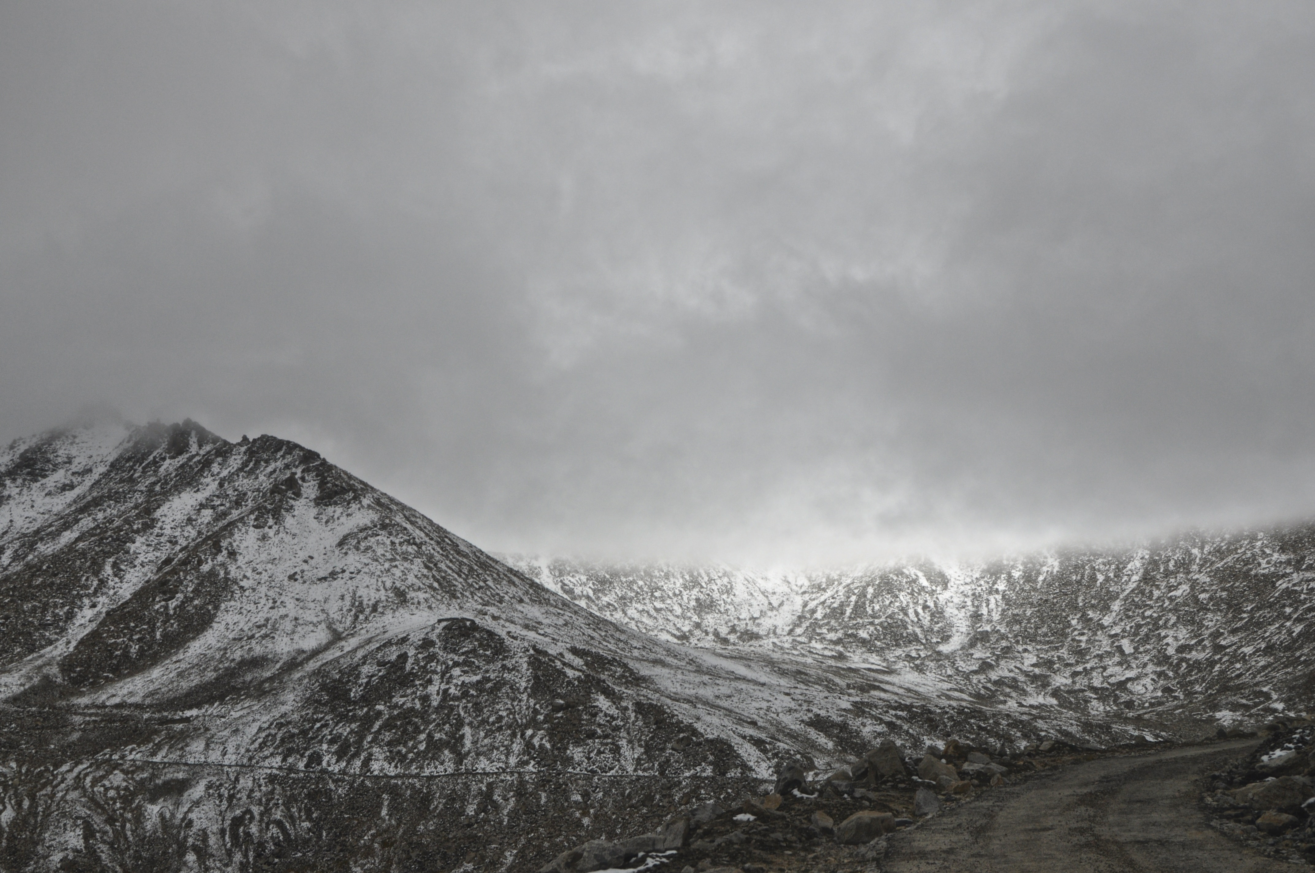 Snow Covered Mountain, Nature, Winter, Weather, View, HQ Photo