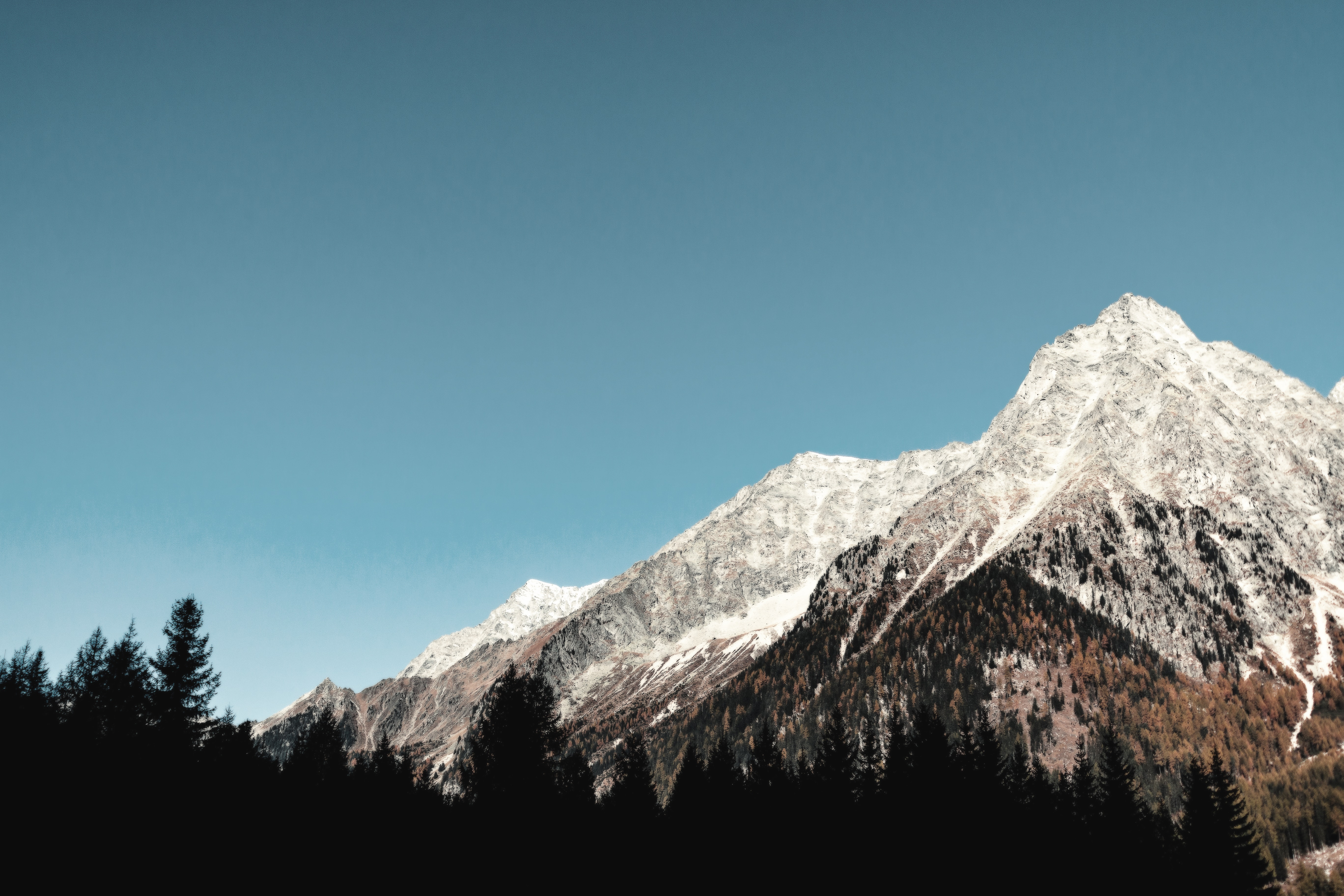 Snow-covered Mountain, Adventure, Mountain, Winter, Trees, HQ Photo