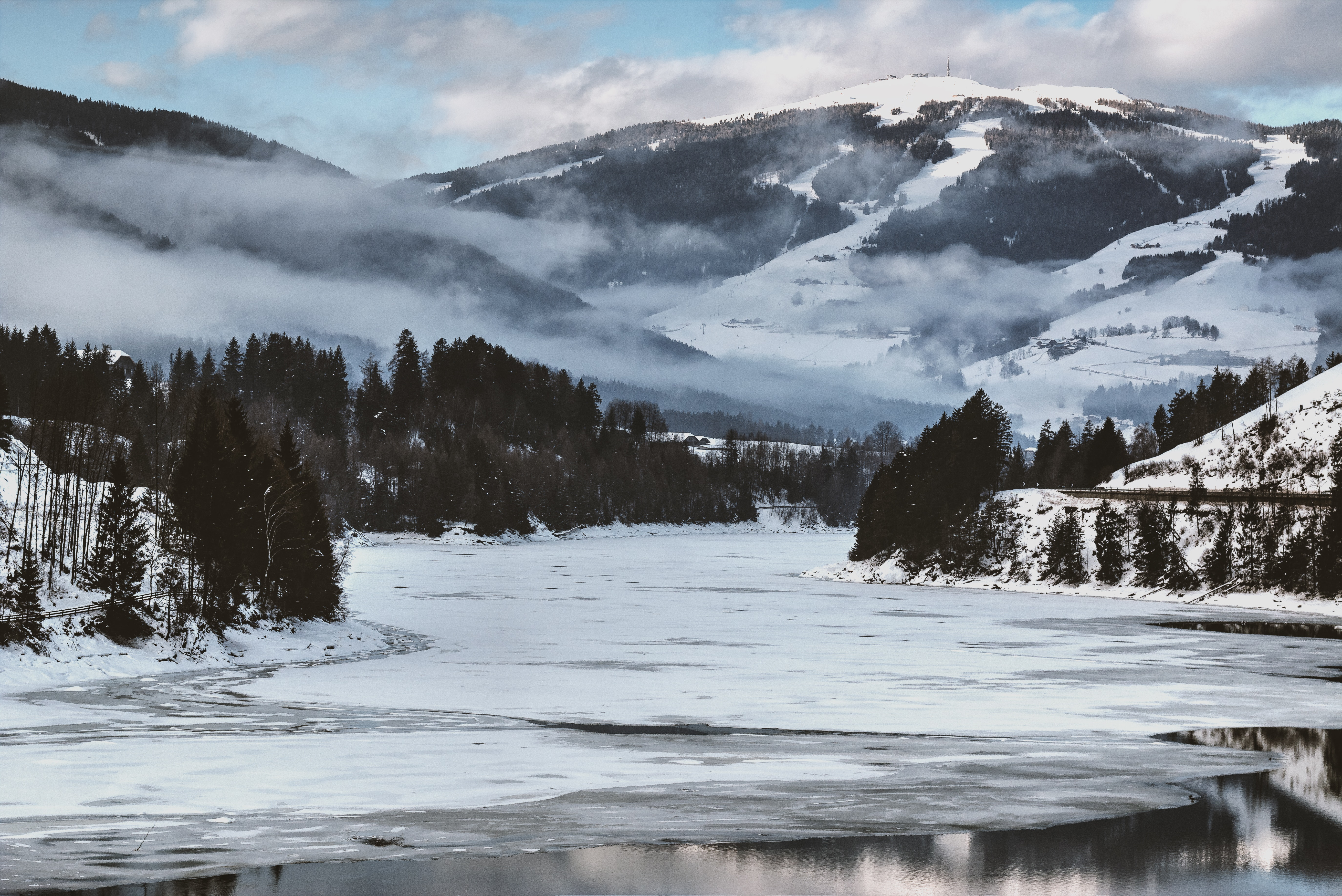 Snow covered mountains photo