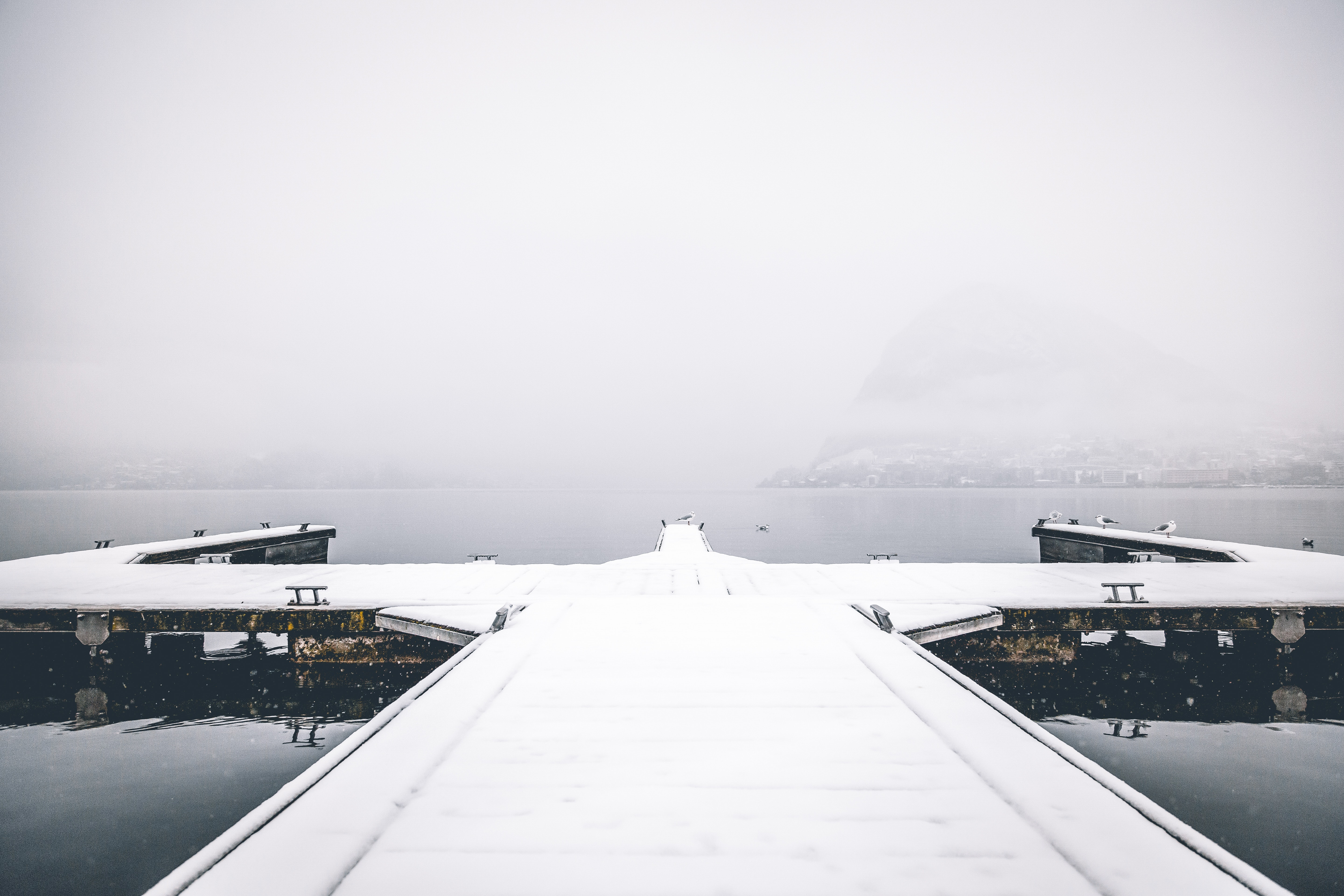 Snow Dock Port Photography, Airport, Daytime, Landscape, Outdoors, HQ Photo