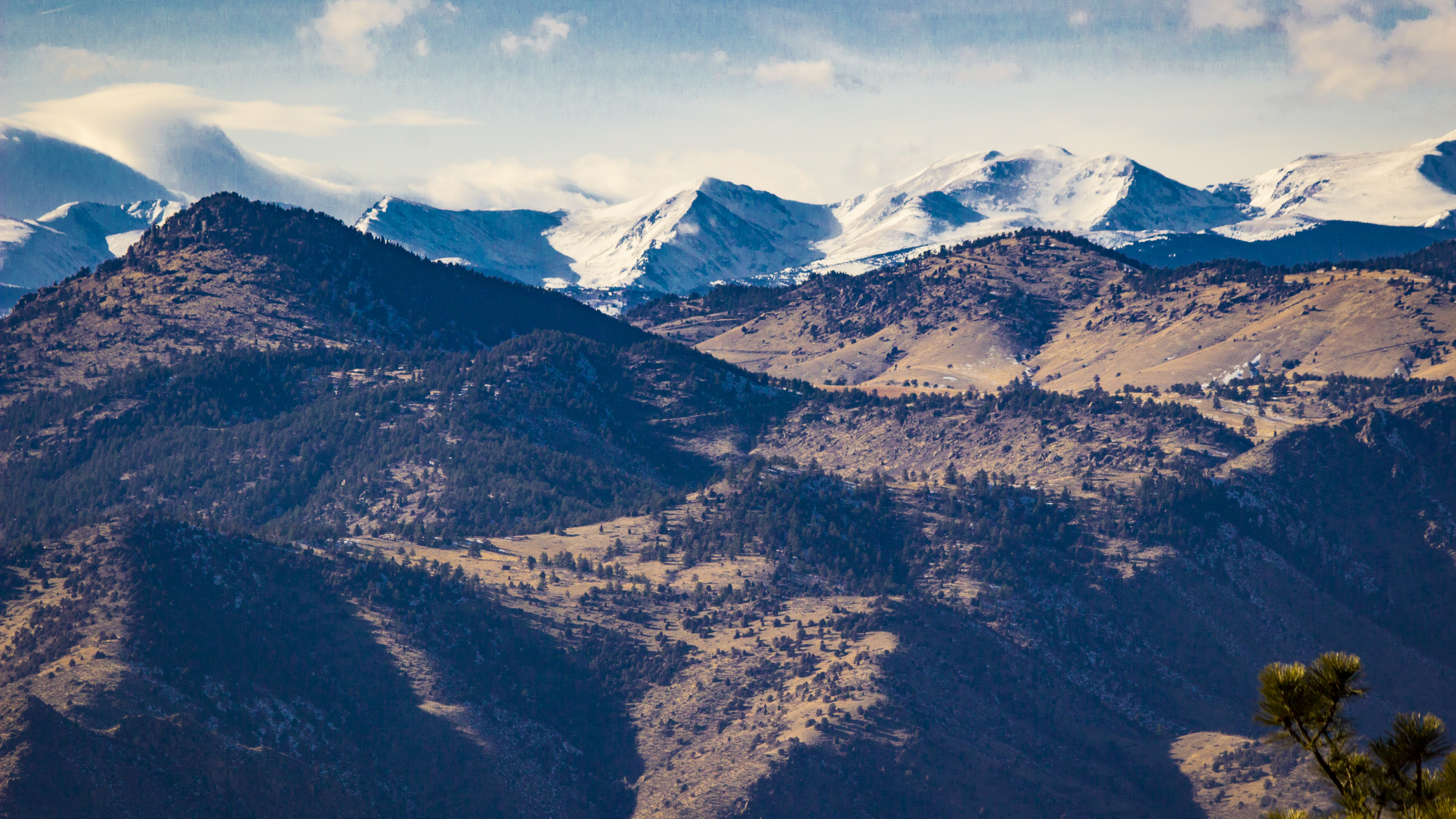 Snow on rockies photo