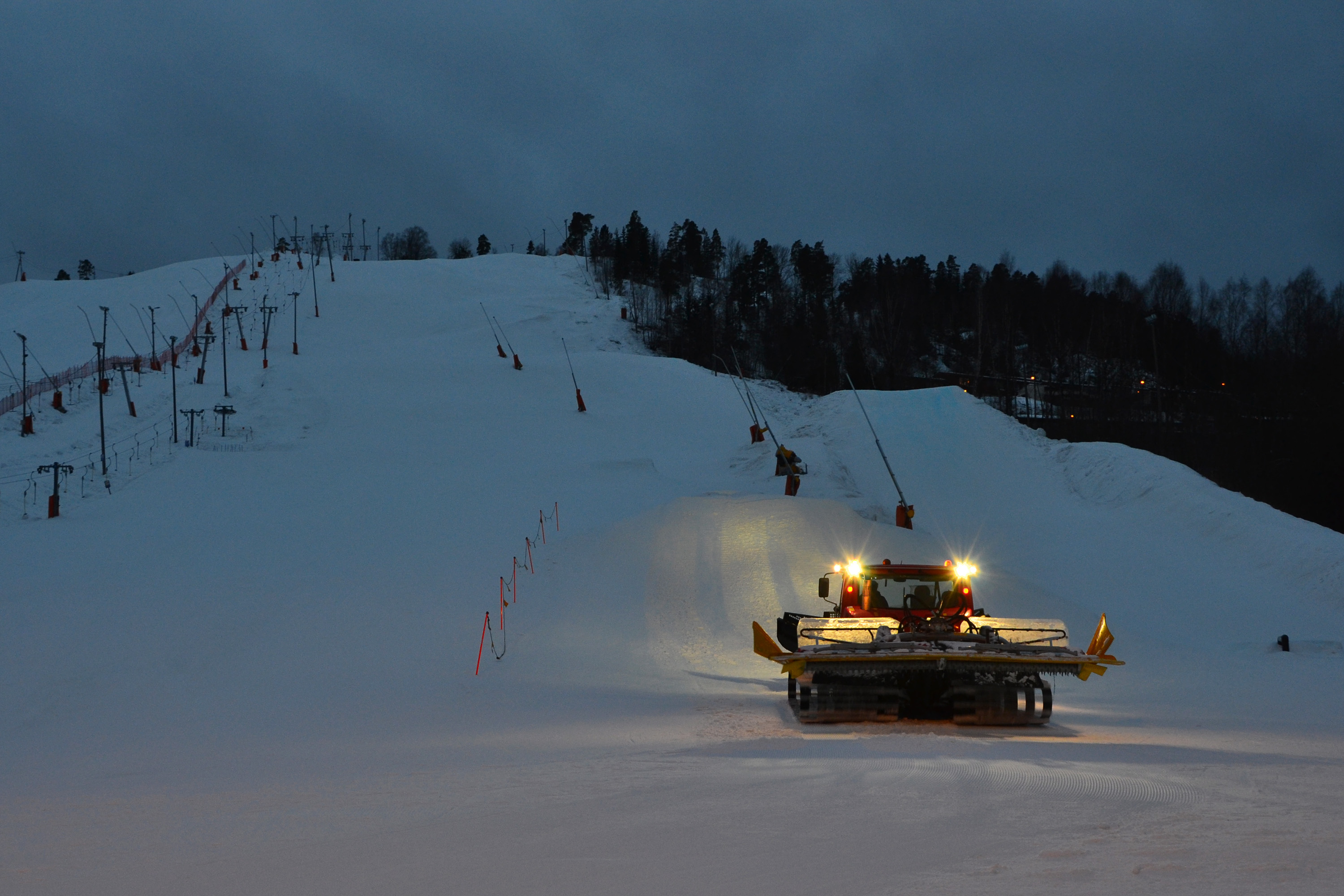 Snow tractor, Alpine, Technic, Skiing, Skislope, HQ Photo
