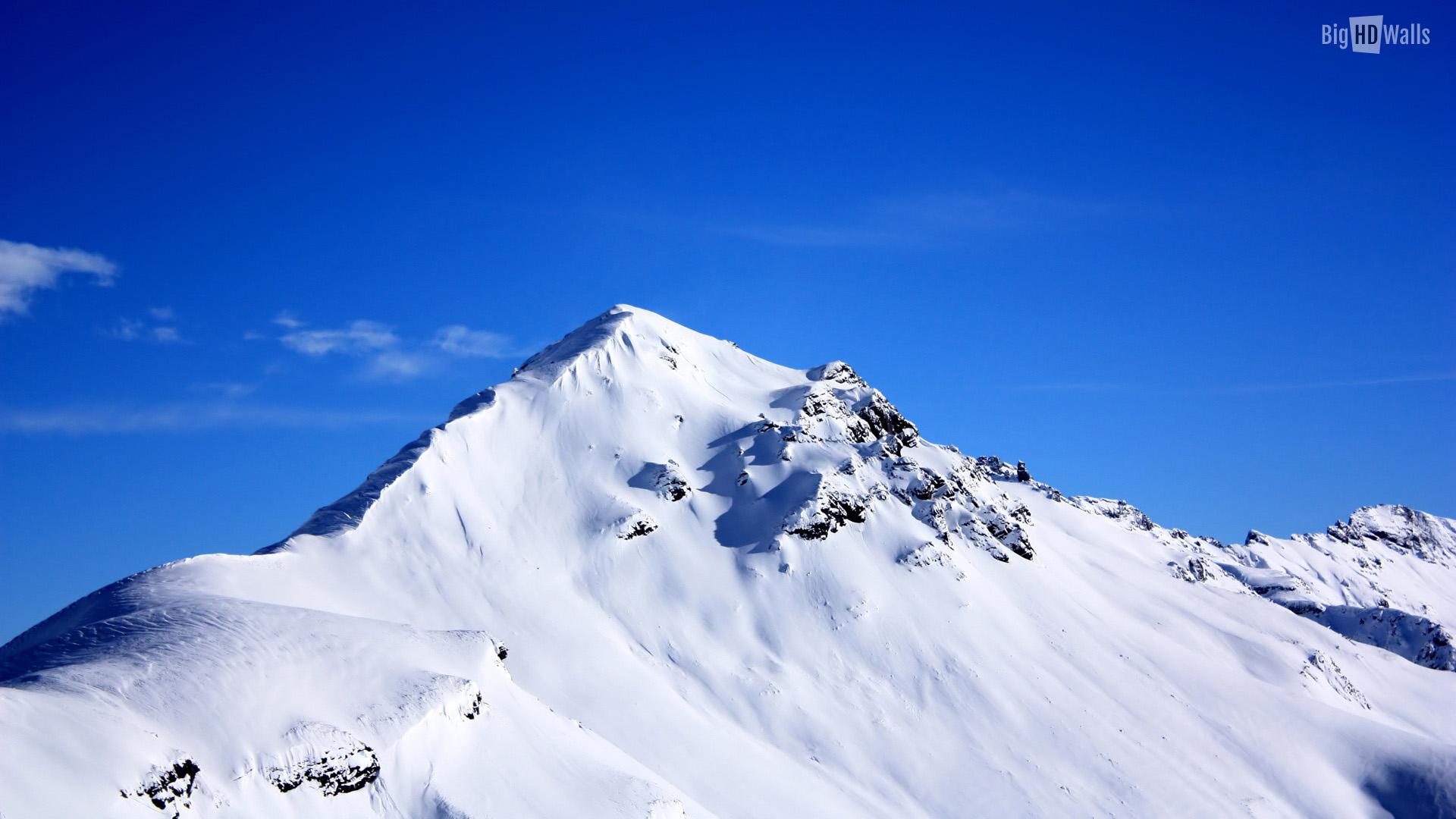 Snow covered peak HD Wallpaper | BigHDWalls