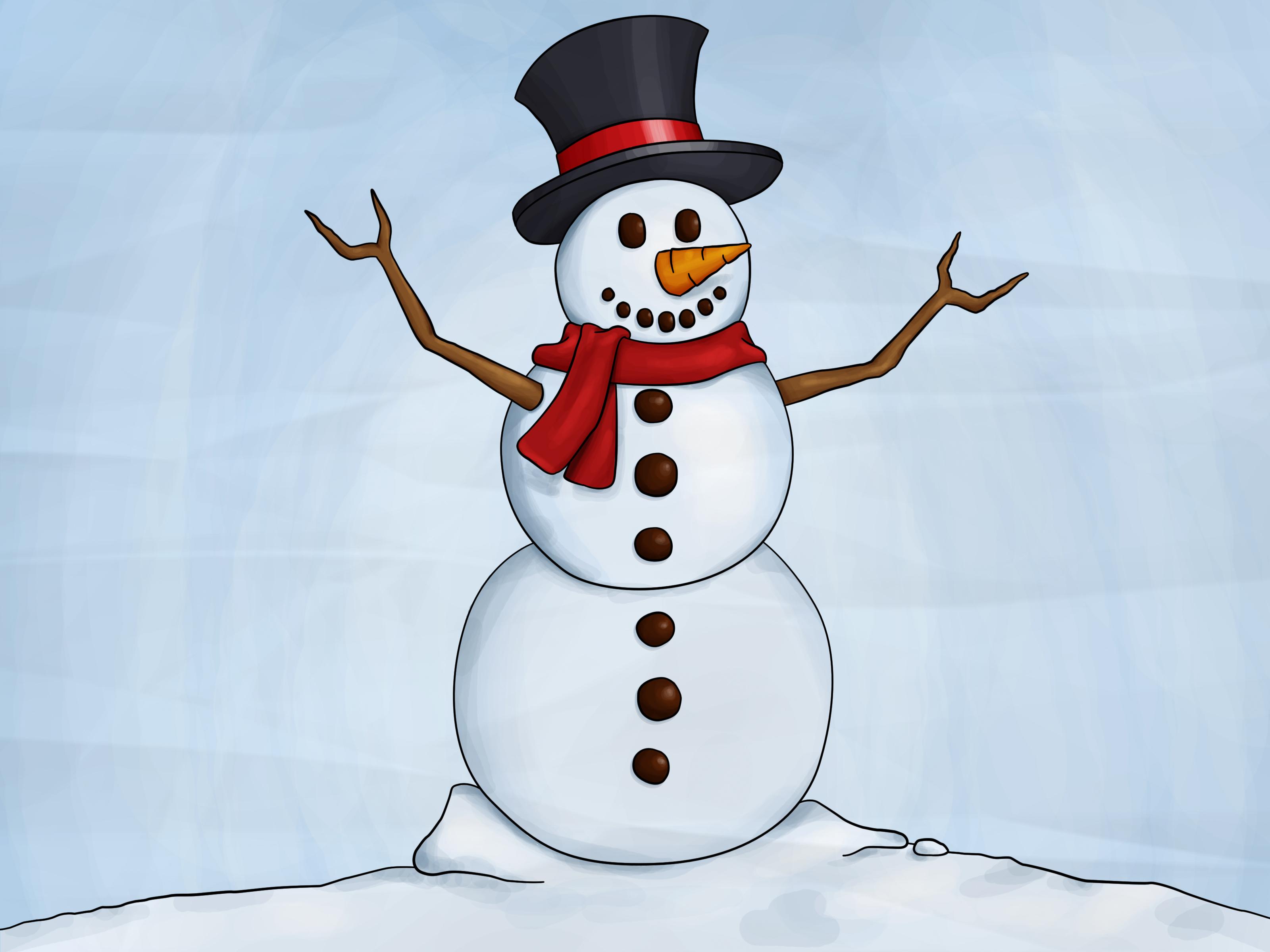free photo snowman snow painting paint free download jooinn