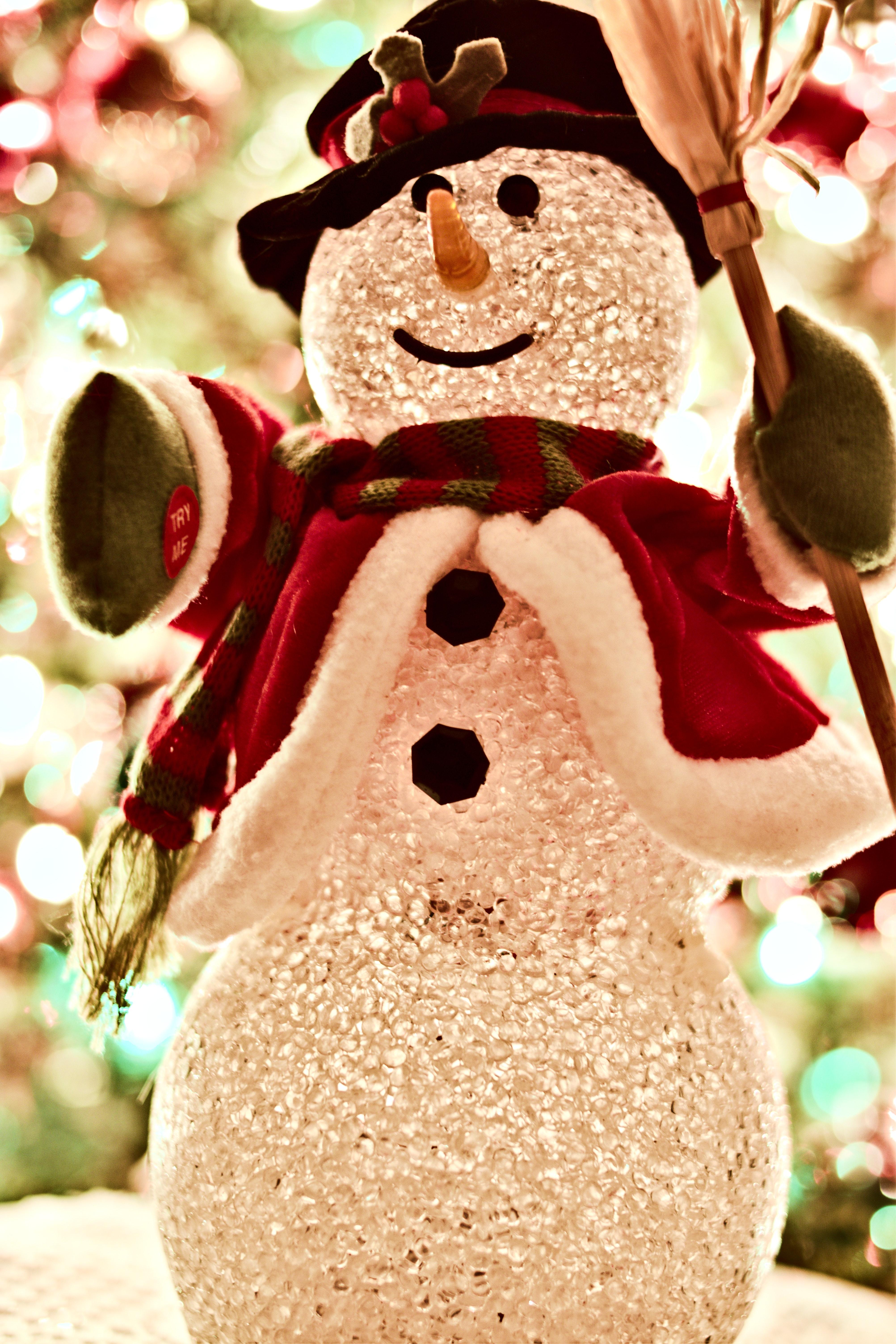 Snowman Figurine, Bright, Fun, Traditional, Tradition, HQ Photo