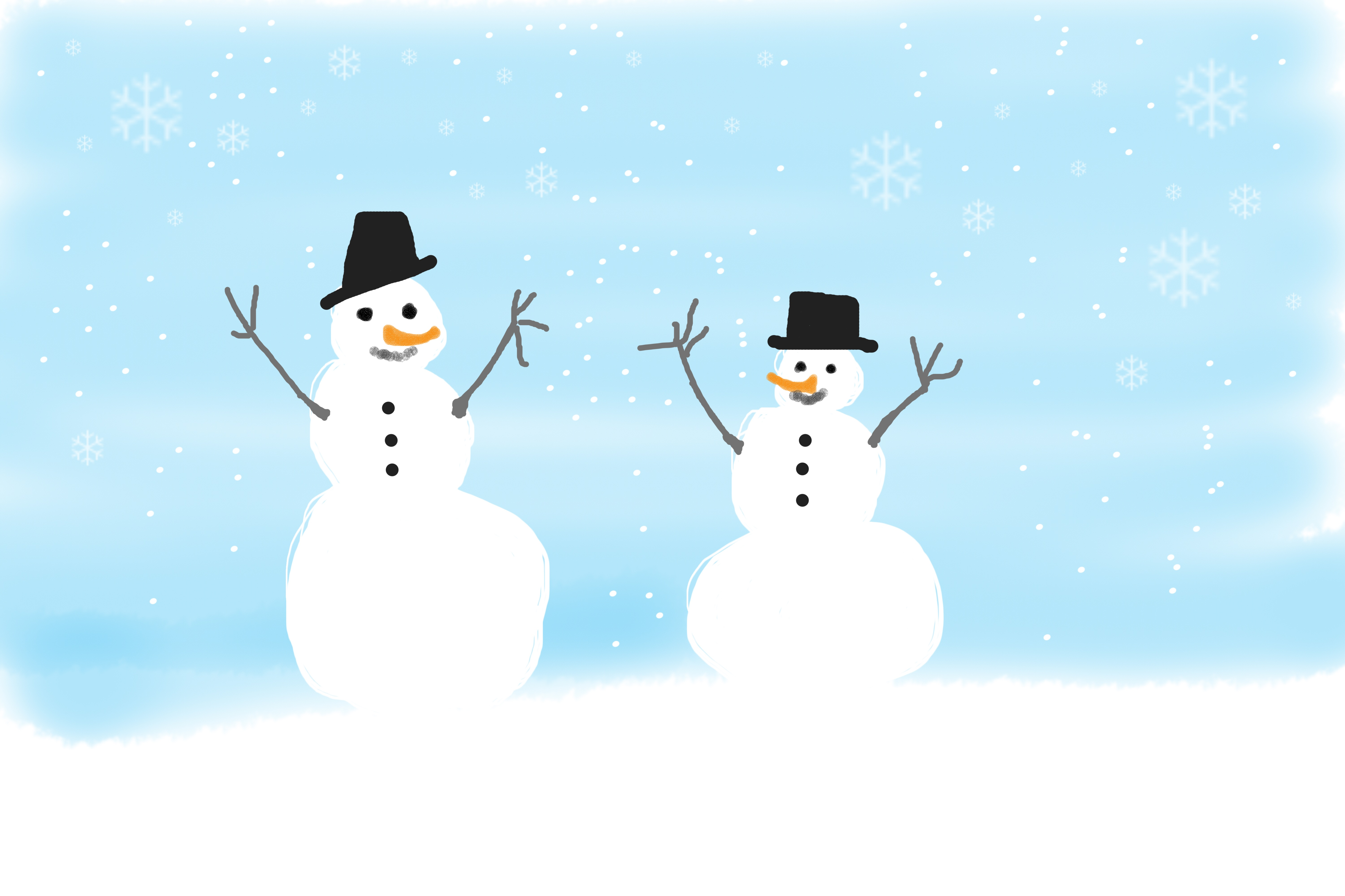Snowmen, Art, Artist, Paint, Painting, HQ Photo