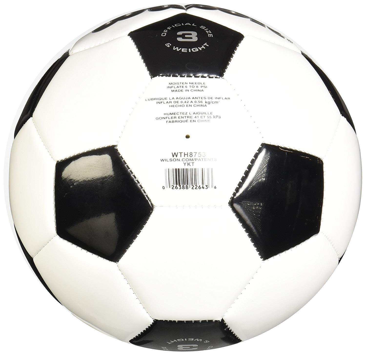 Amazon.com : Wilson Traditional Soccer Ball : Sports & Outdoors