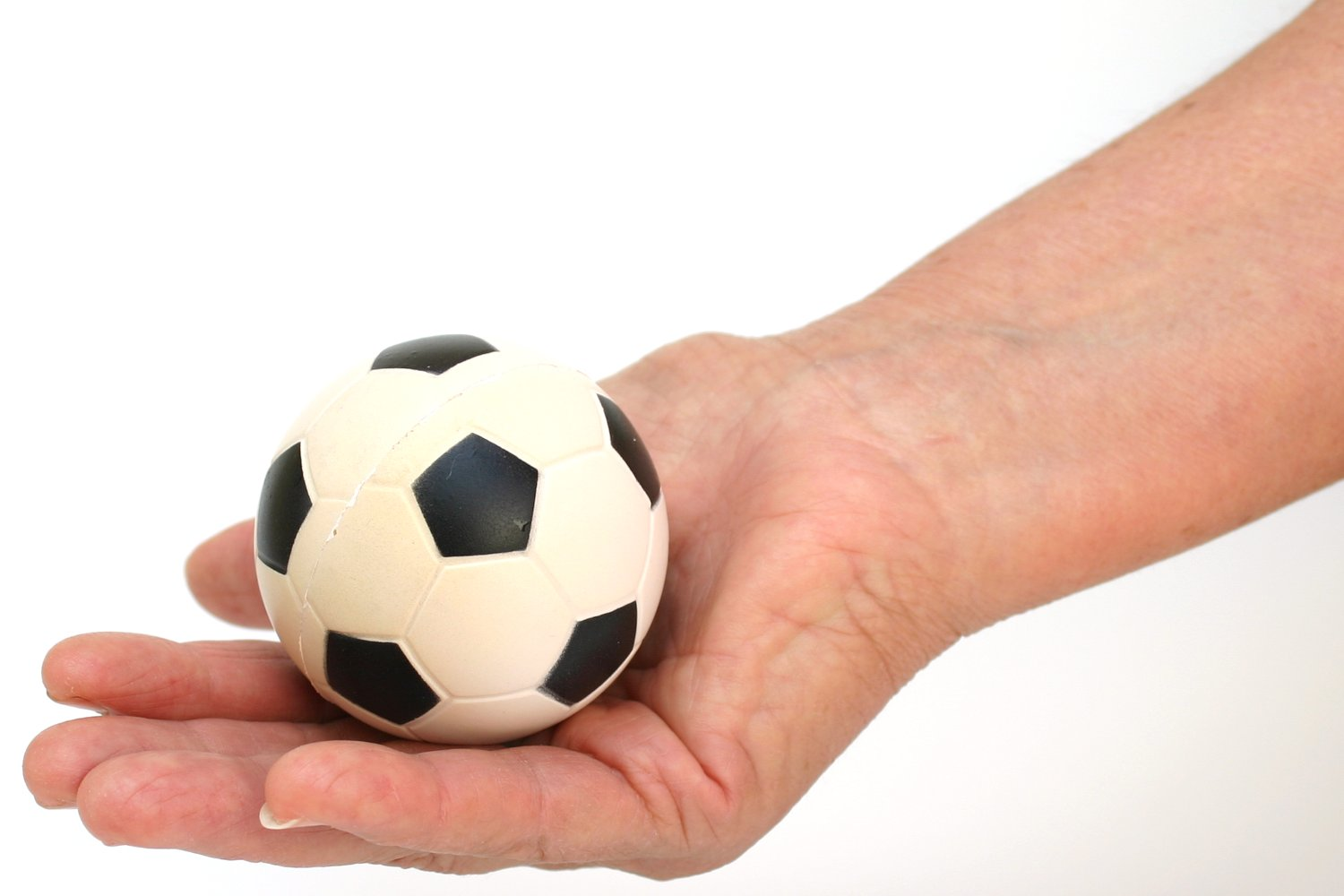 soccer ball in hand, Abstract, Single, Male, Man, HQ Photo