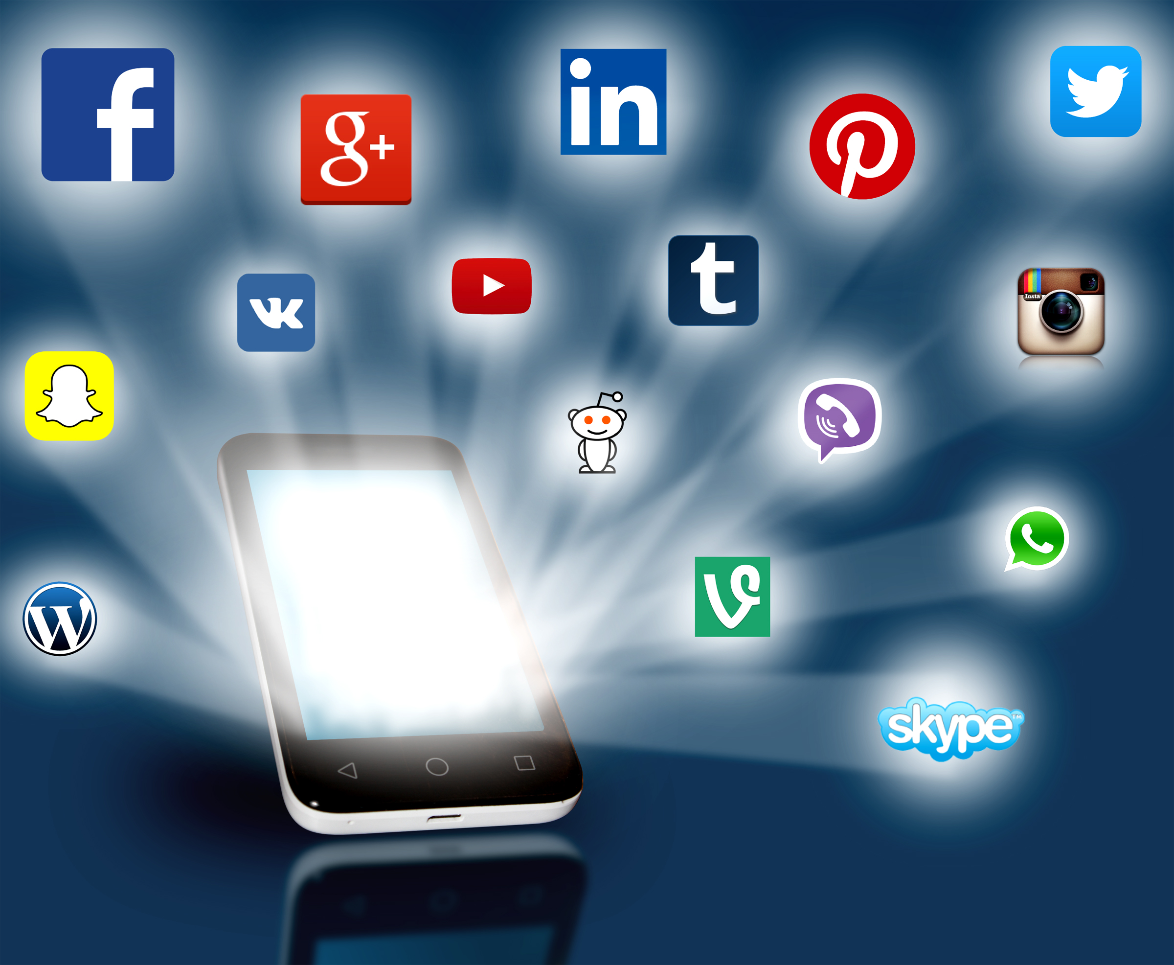 Social media networks projecting, 3d, Person, Share, Set, HQ Photo