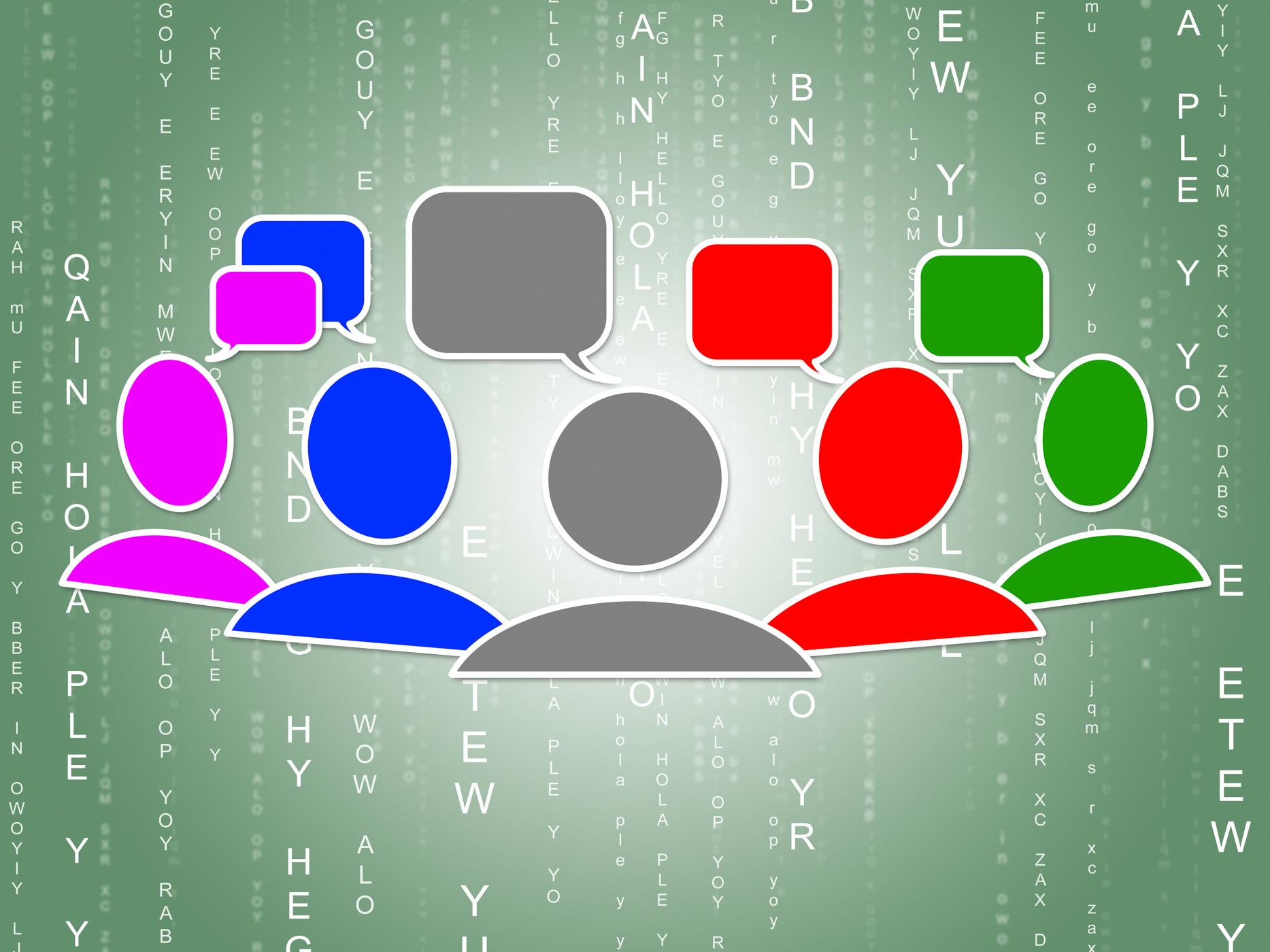 Social Media Represents Connecting People And Binary, Blogs, Matrix, Web, Virtual, HQ Photo