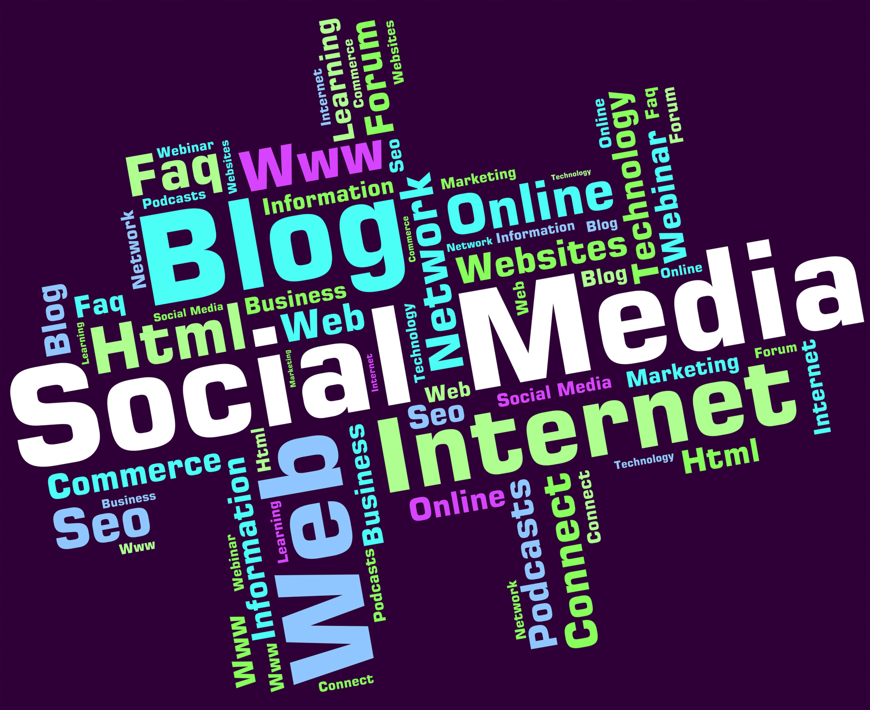 Social media represents news feed and blogs photo